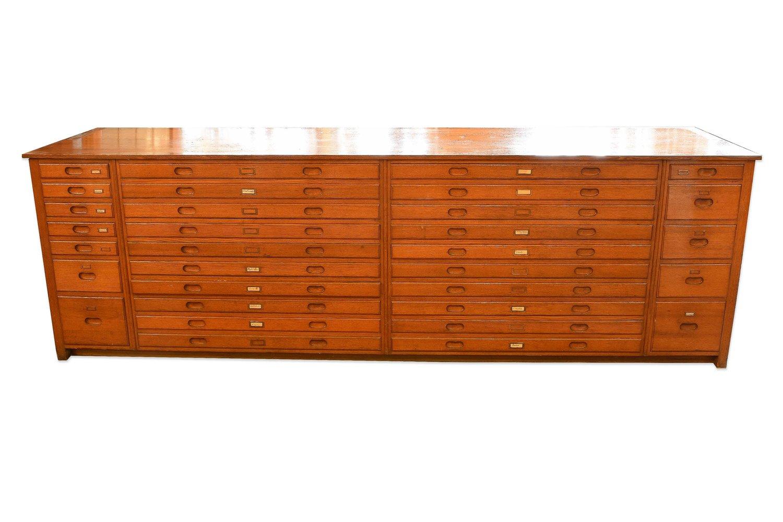 Architectural Antique's Oak Flat File Cabinet