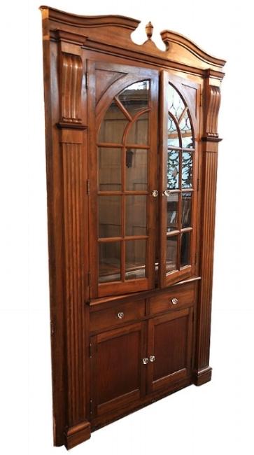 Architectural Antique's Dark Walnut Corner Cabinet