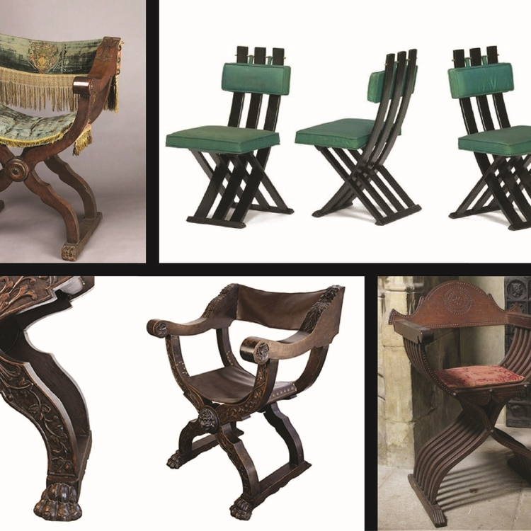 CELEBRATED ARTIFACTS: CROSS-FRAMED CHAIRS -