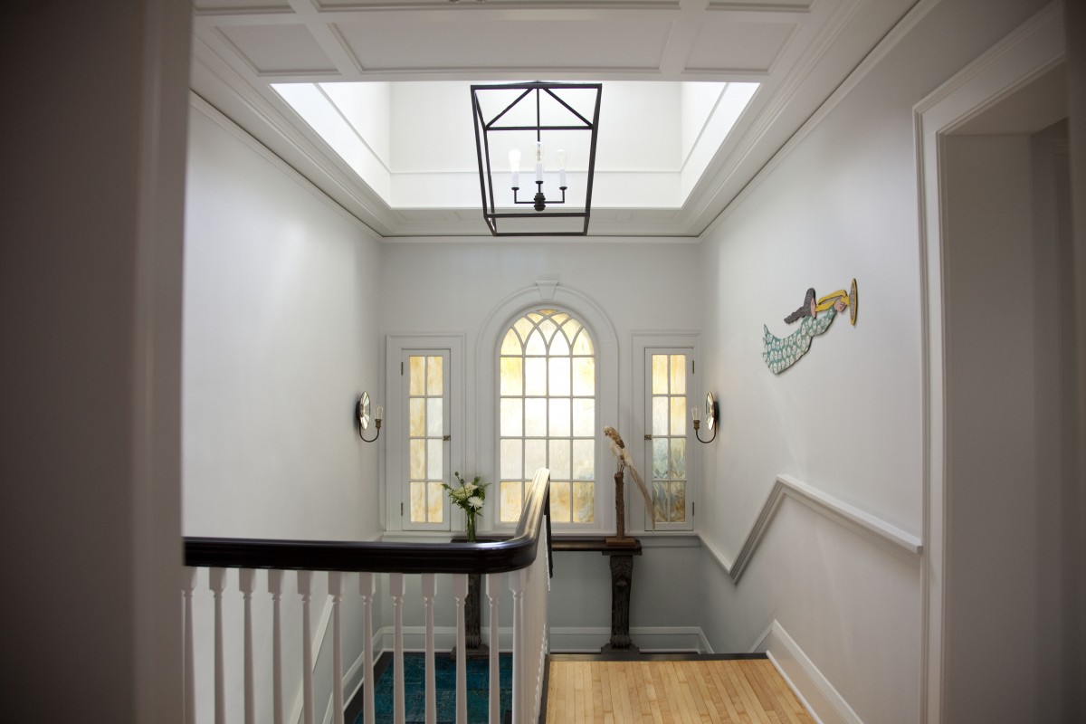 Another view of the stairwell, also in a house designed by TreHus