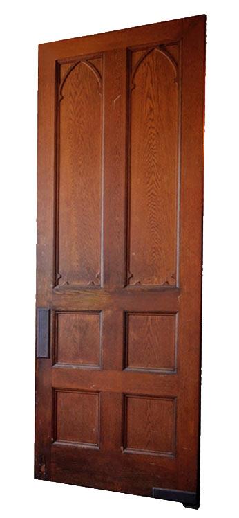 oak gothic swinging door