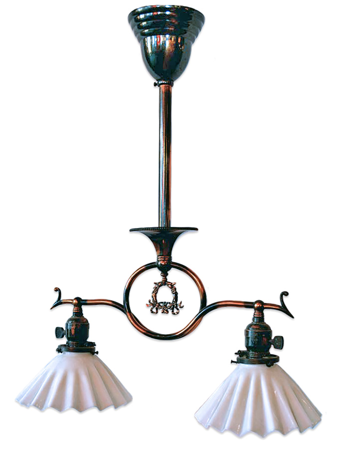 two-arm victorian fixture
