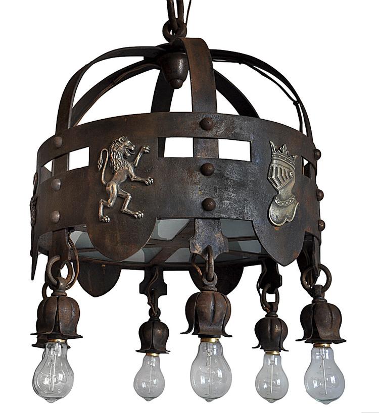 iron arts & crafts chandelier