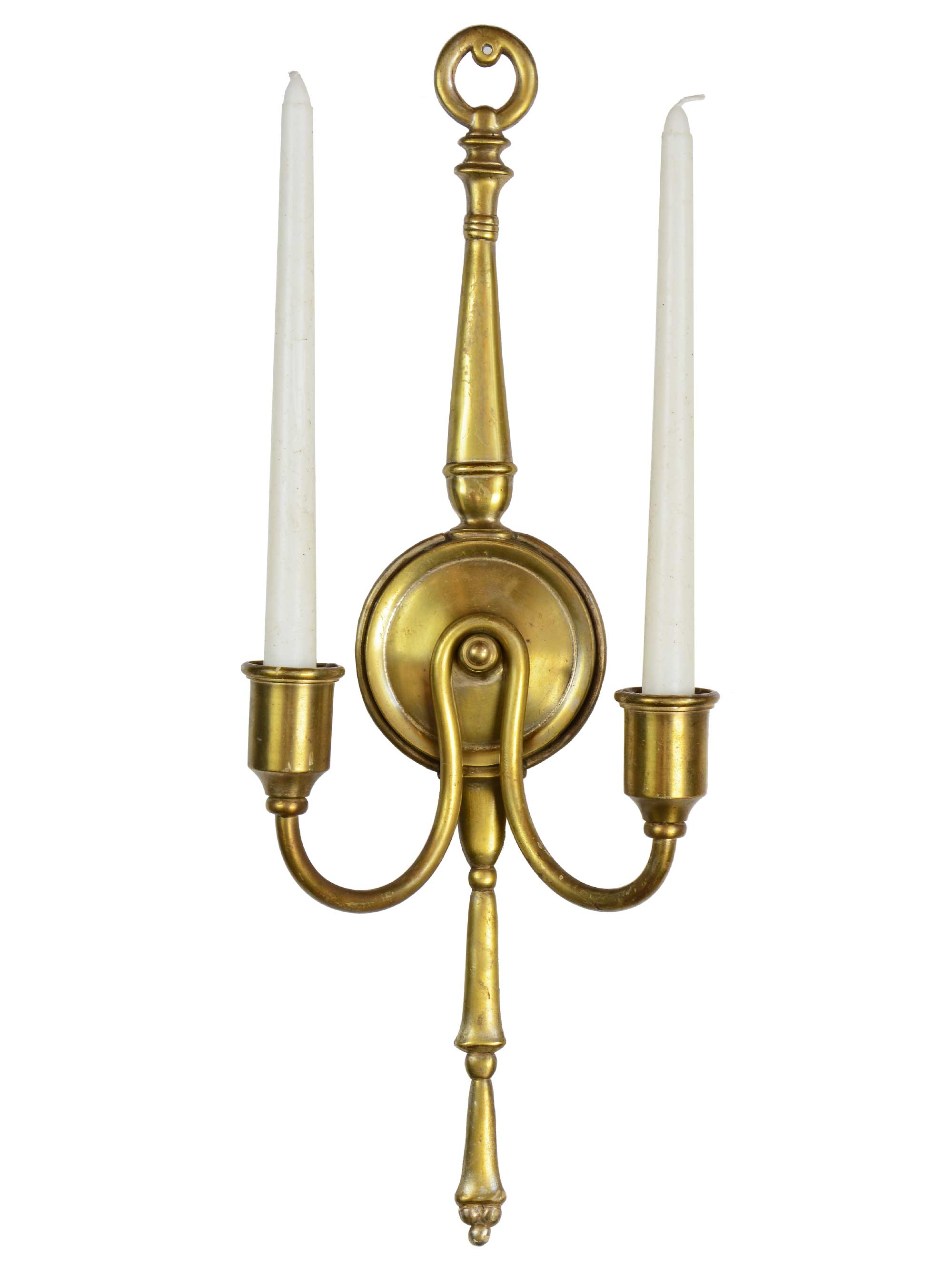 colonial cast brass sconce
