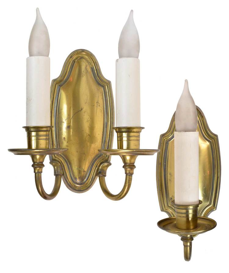 colonial brass sconces