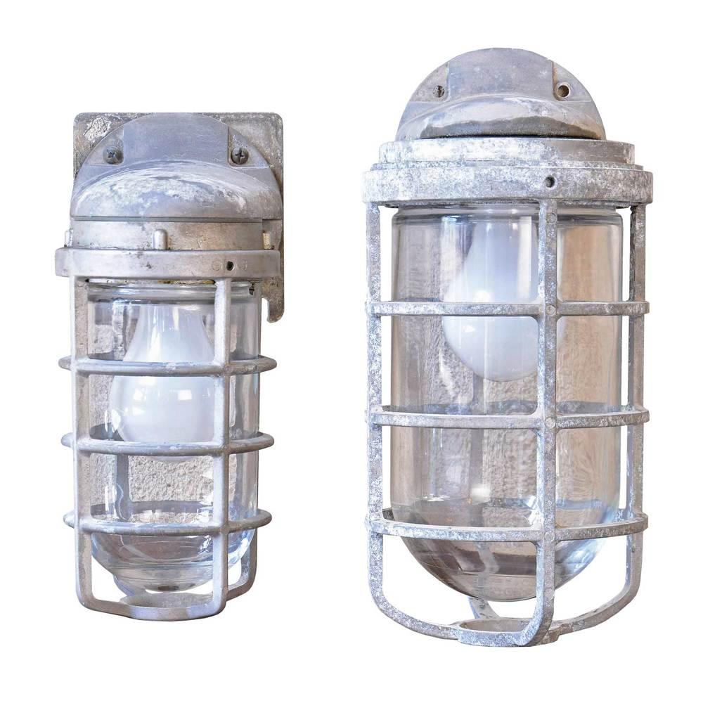 cast aluminum cage sconces