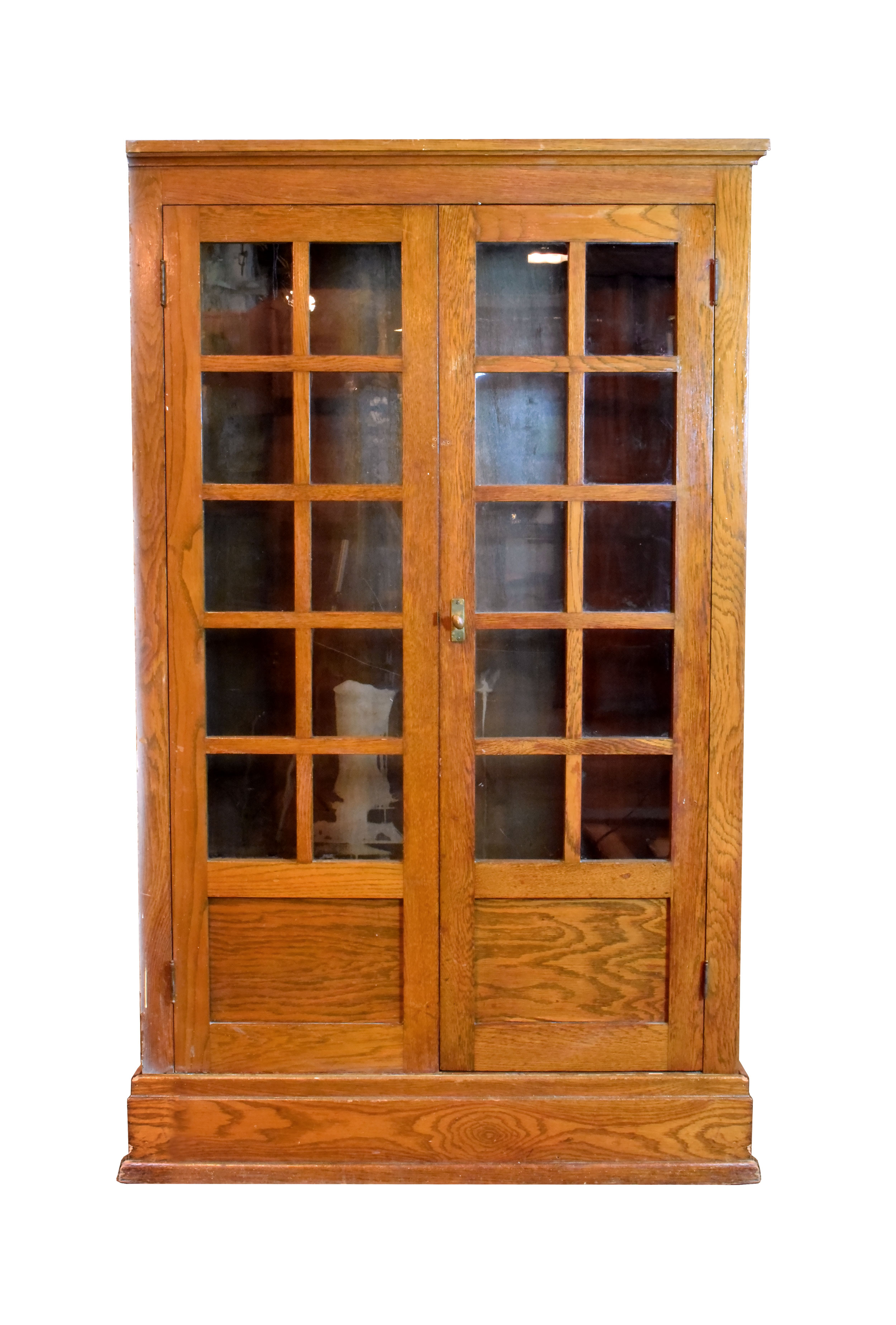arts & crafts built-in schoolhouse cabinet