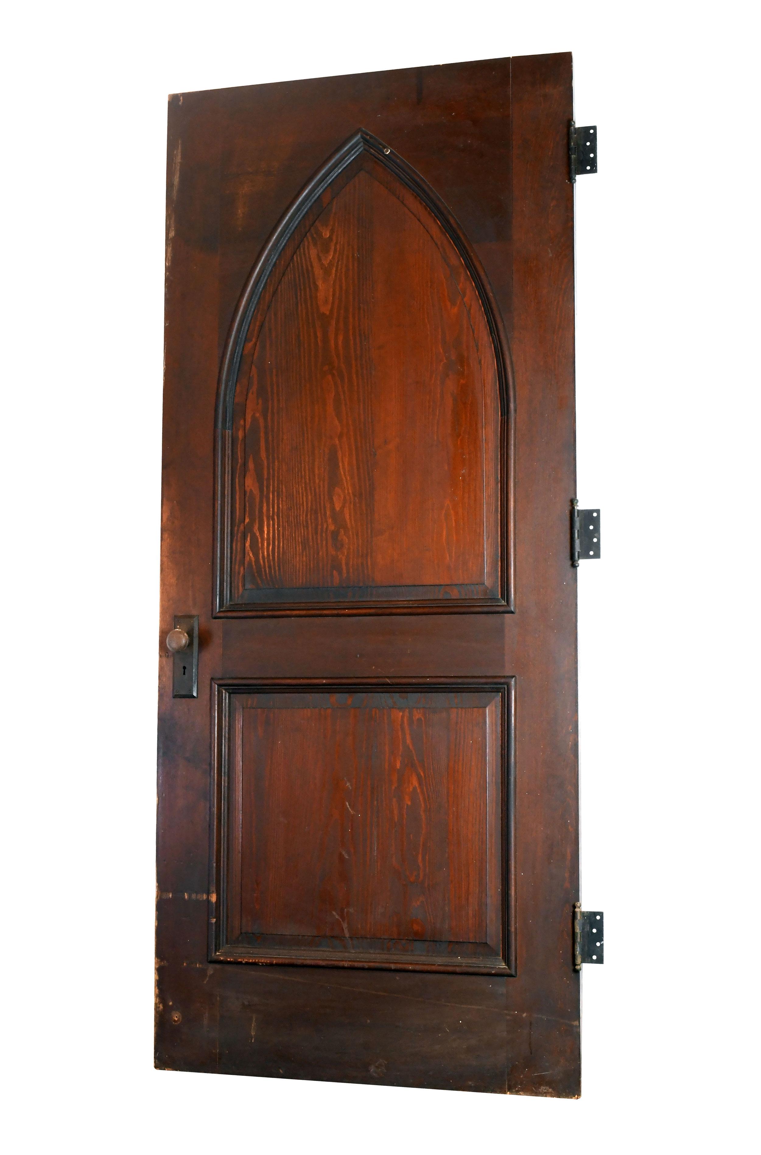 "36"" gothic arched oak door"