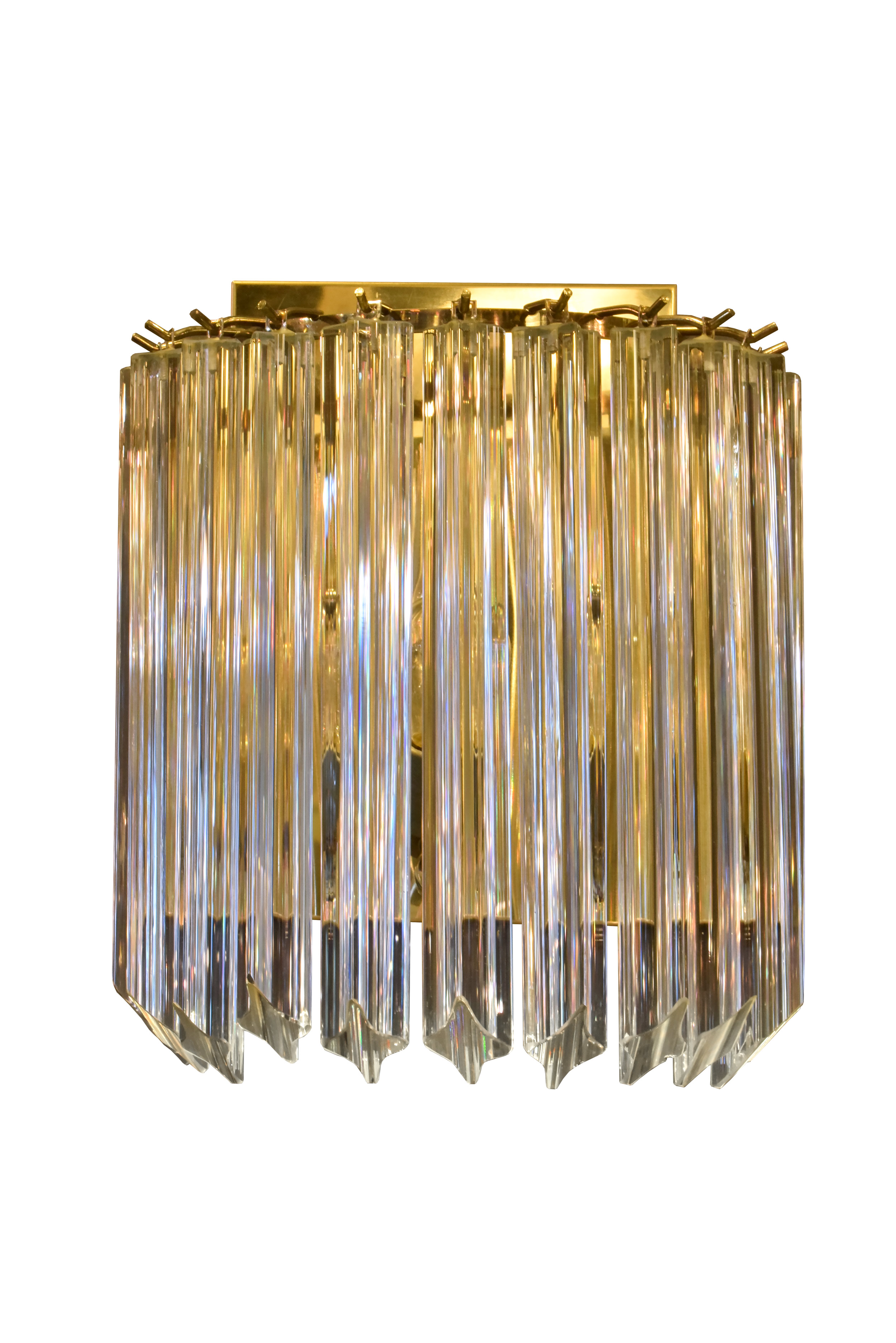 venini sconce with triedri crystals