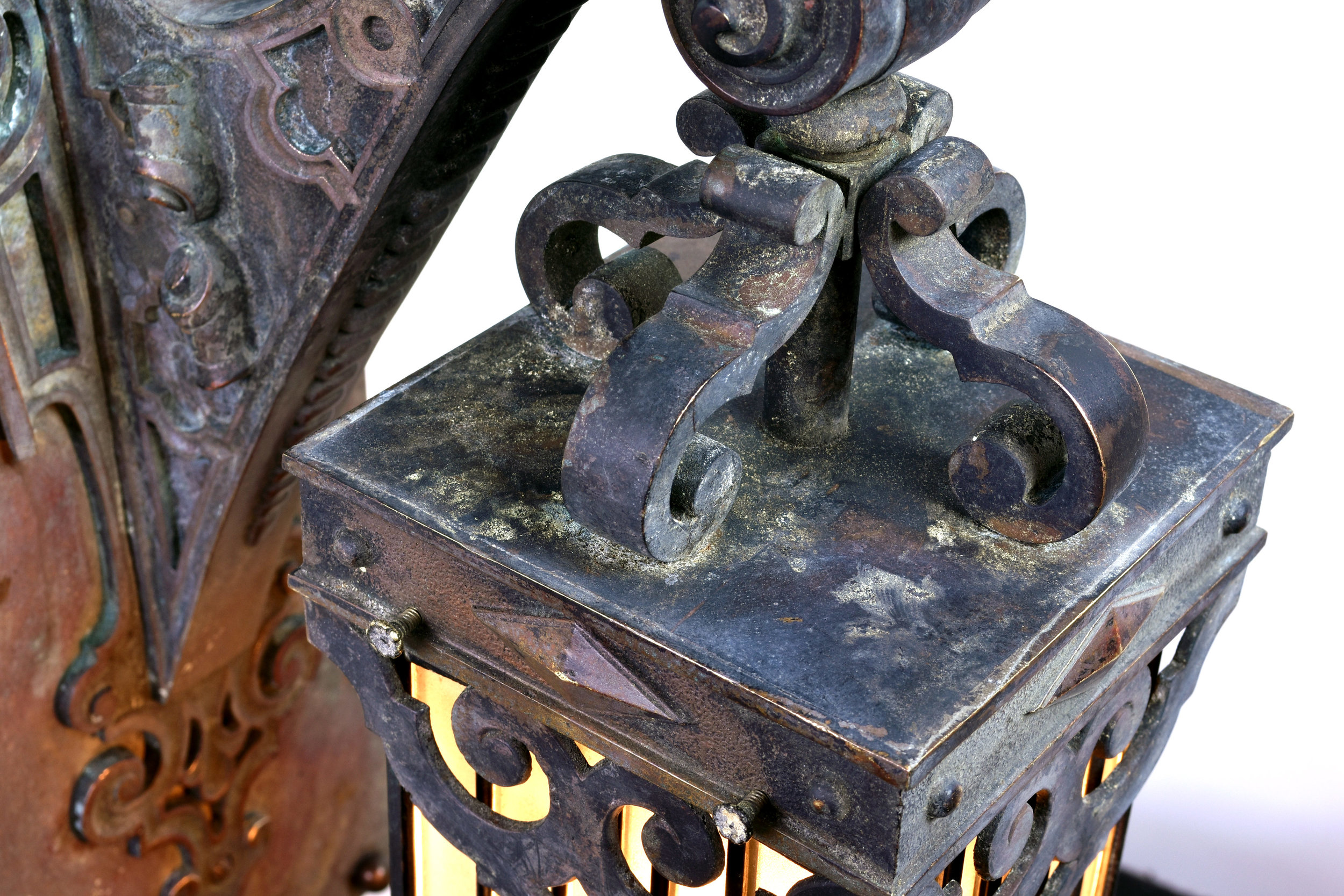 47236-cast-bronze-sconce-with-leaded-glass-shade-upper-view.jpg