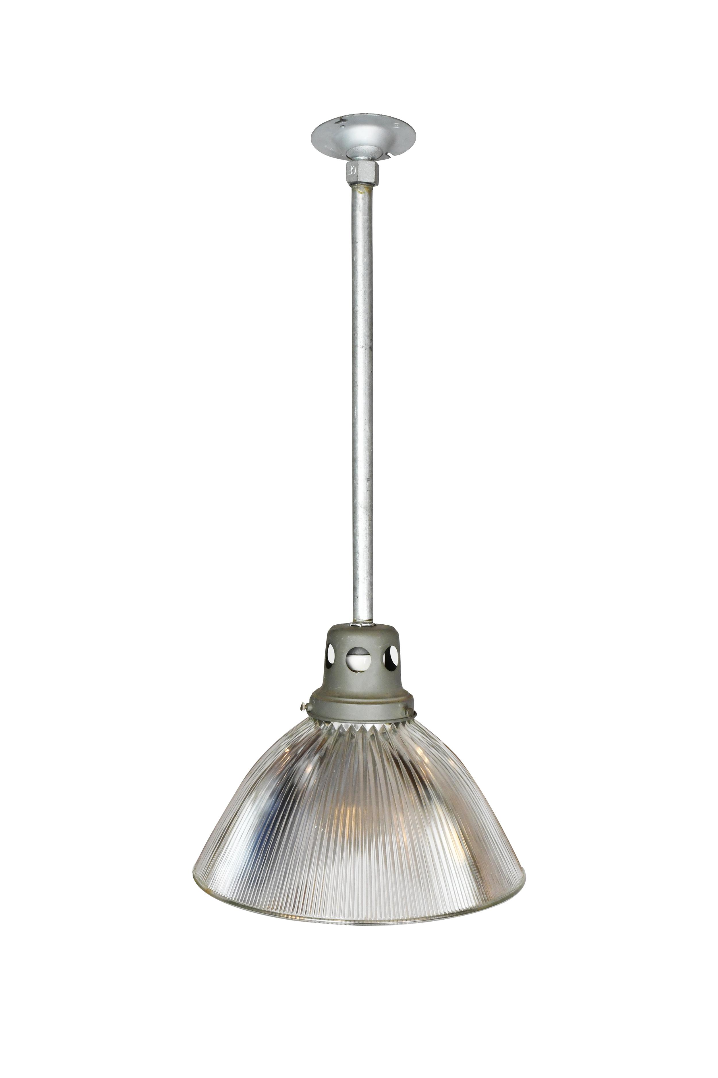 large holophane pendant with reflective shade