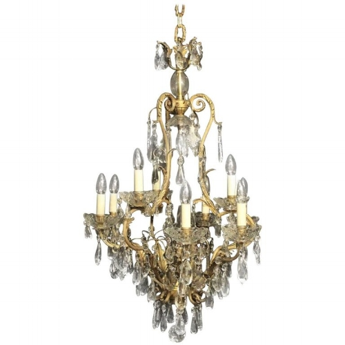 French Baroque gilded bronze chandelier, available on 1stdibs