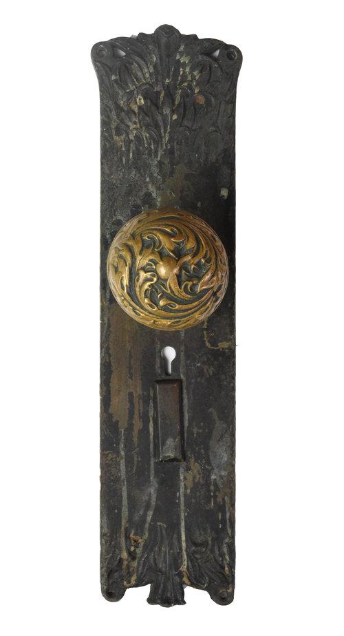 Cast Brass Corbin 'Florence' Doorknob Set