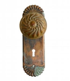 Fluted Brass Knob Set