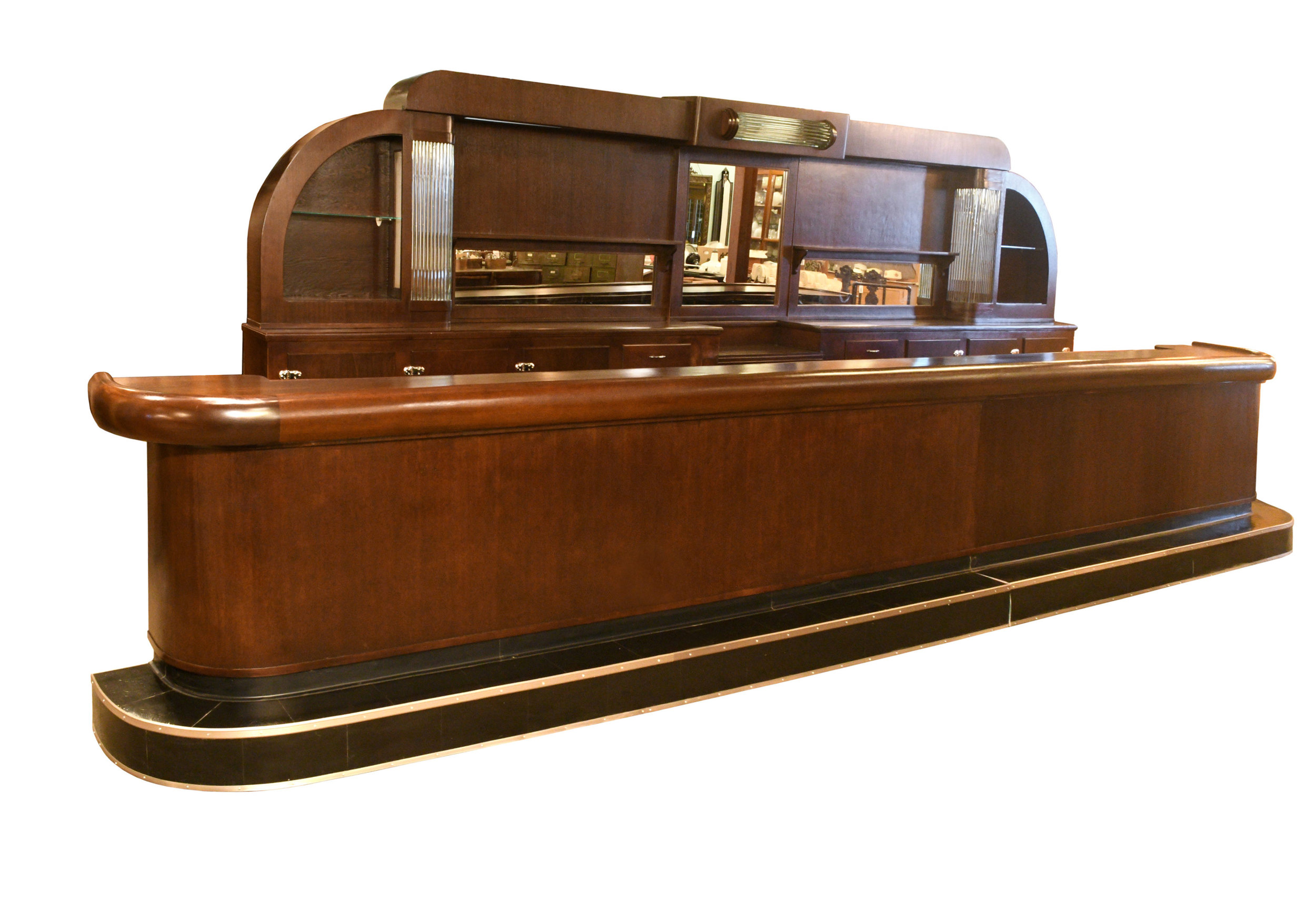 art deco bar with glass rods