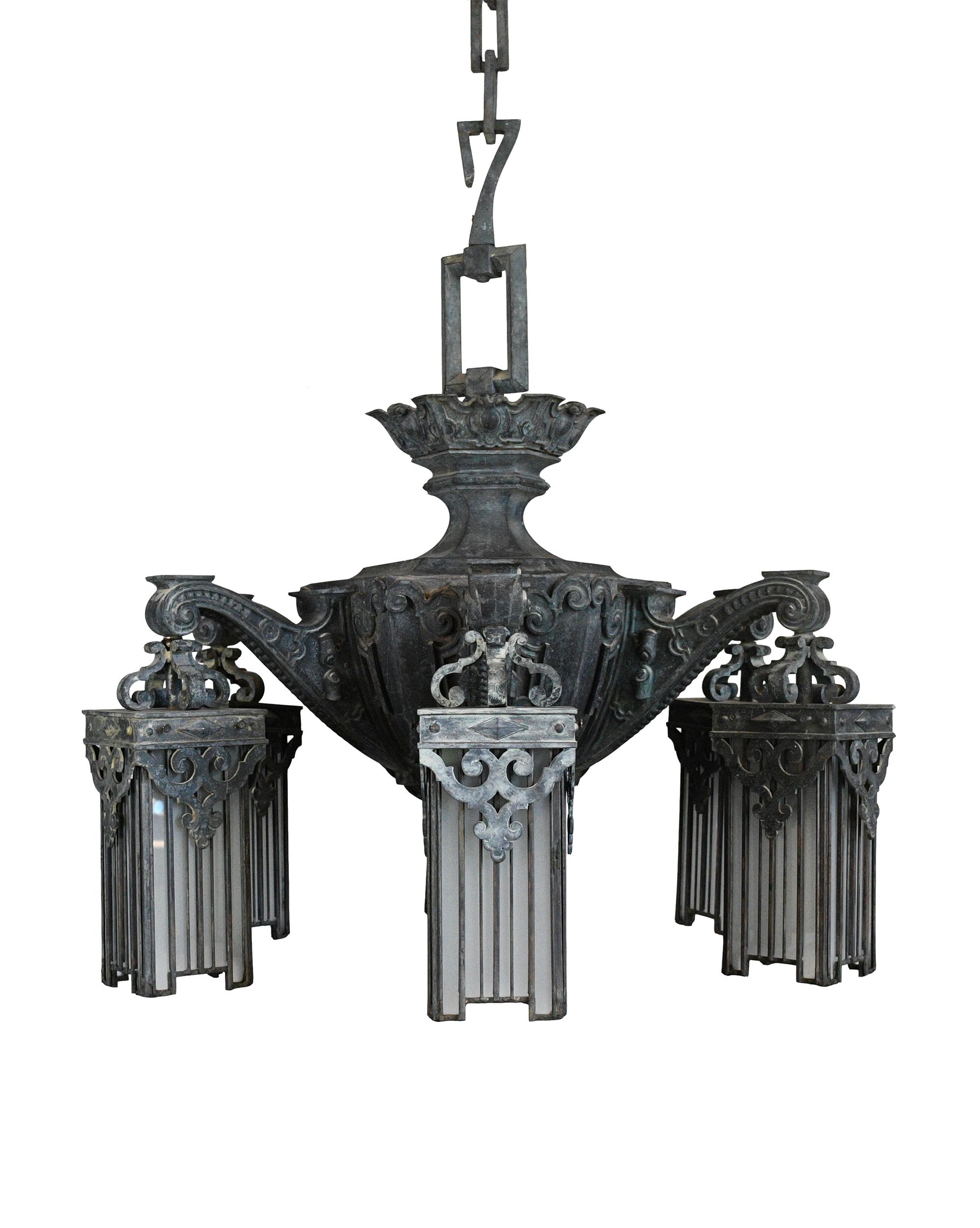 cast bronze victorian chandelier
