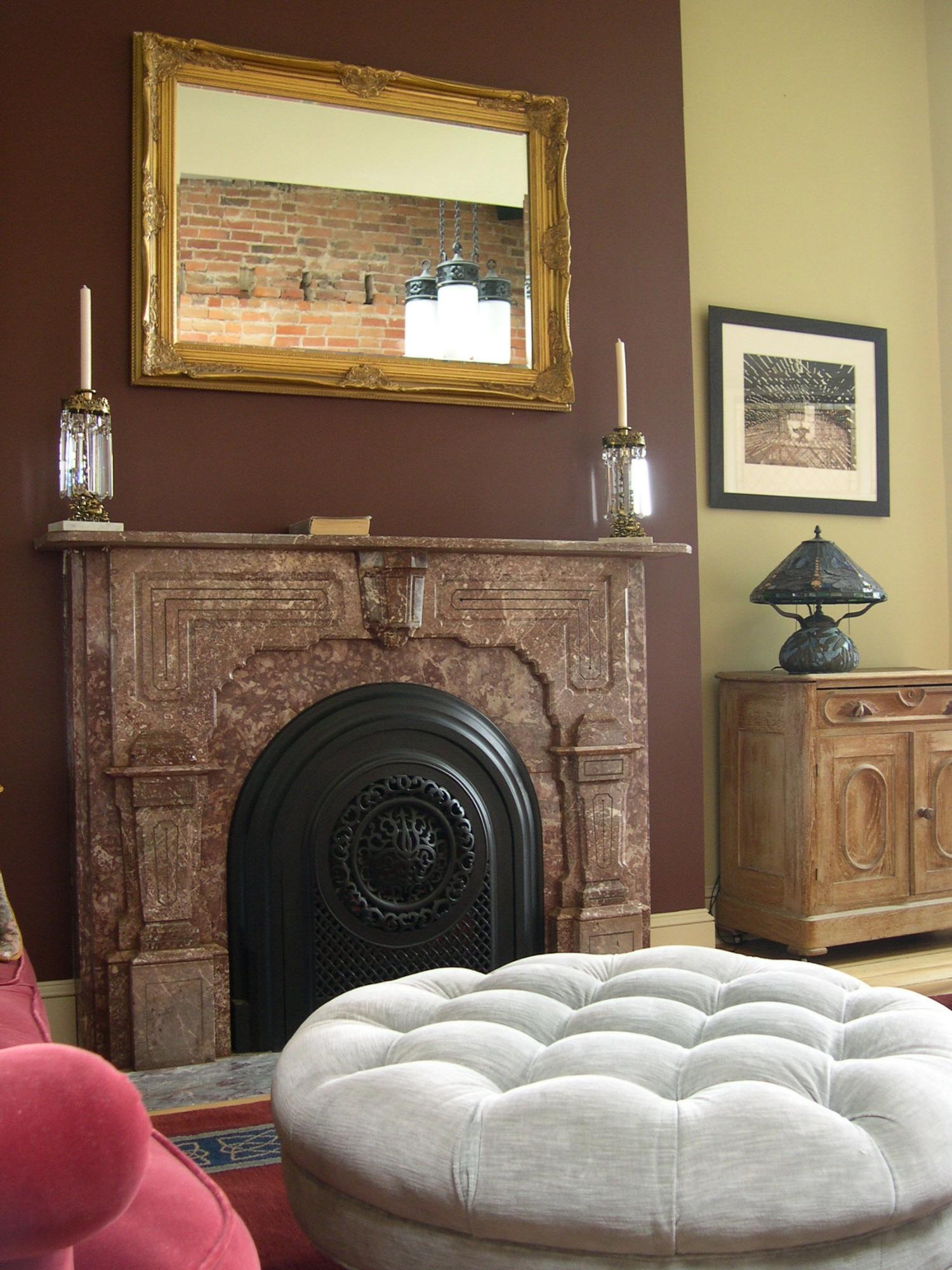 Fireplace Mantle in St. Paul Loft