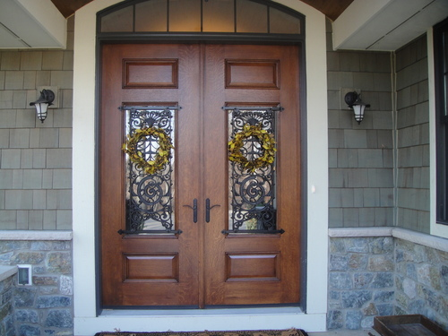 Hand Wrought Iron Panels at Foxville Home