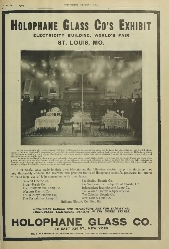 1904 - On display at the St. Louis World's Fair