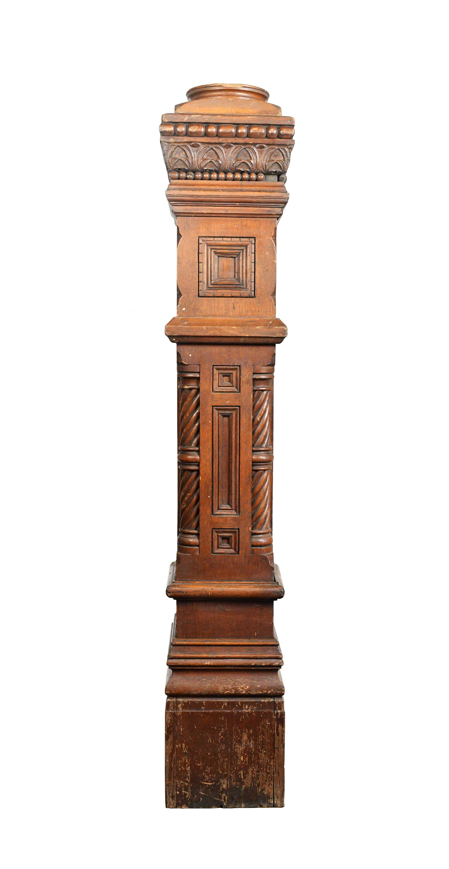 oak victorian carved newel post