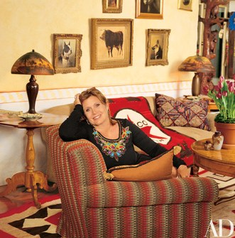 Carrie Fisher's living room in Beverly Hills