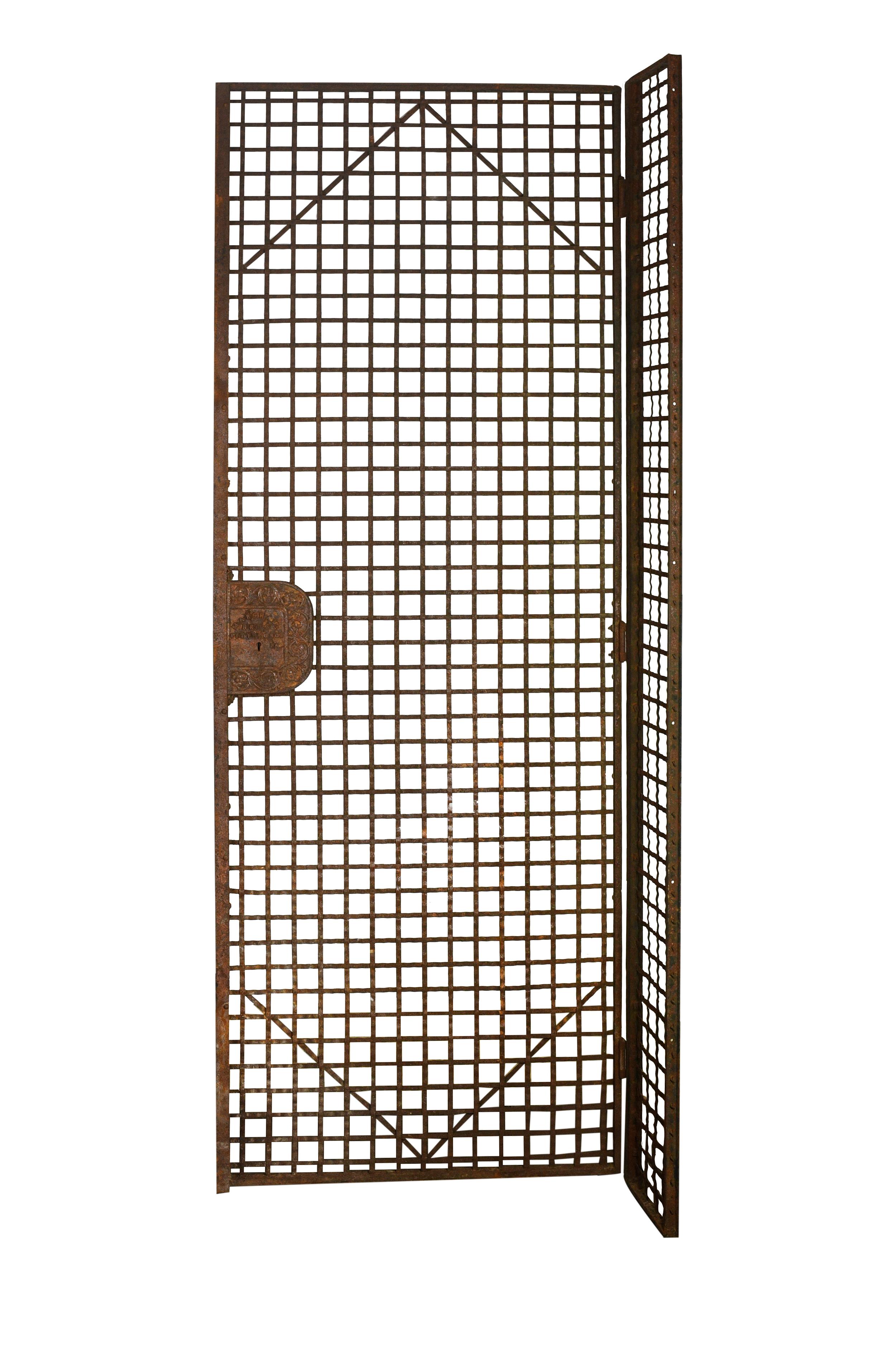 woven metal elevator cage doors
