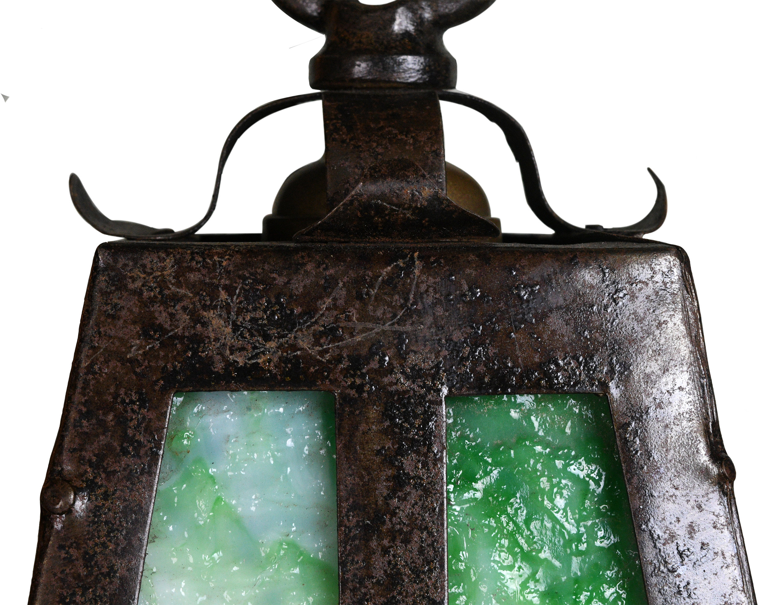 47738-iron-sconce-with-green-slag-glass-2.jpg