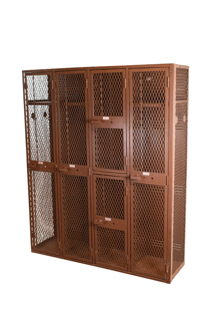 brown locker unit - 8 available