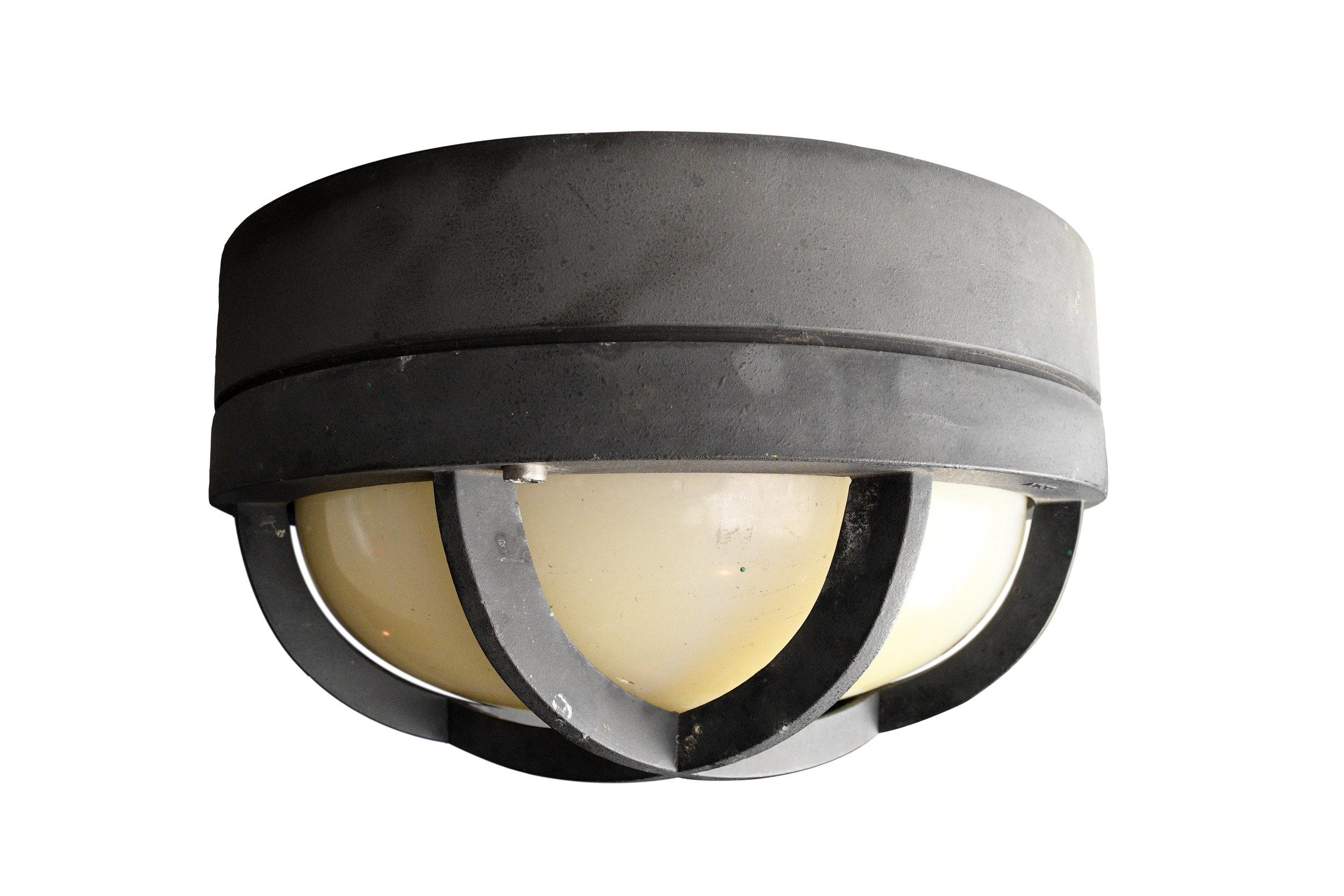 grey wall/ceiling mount nautical light