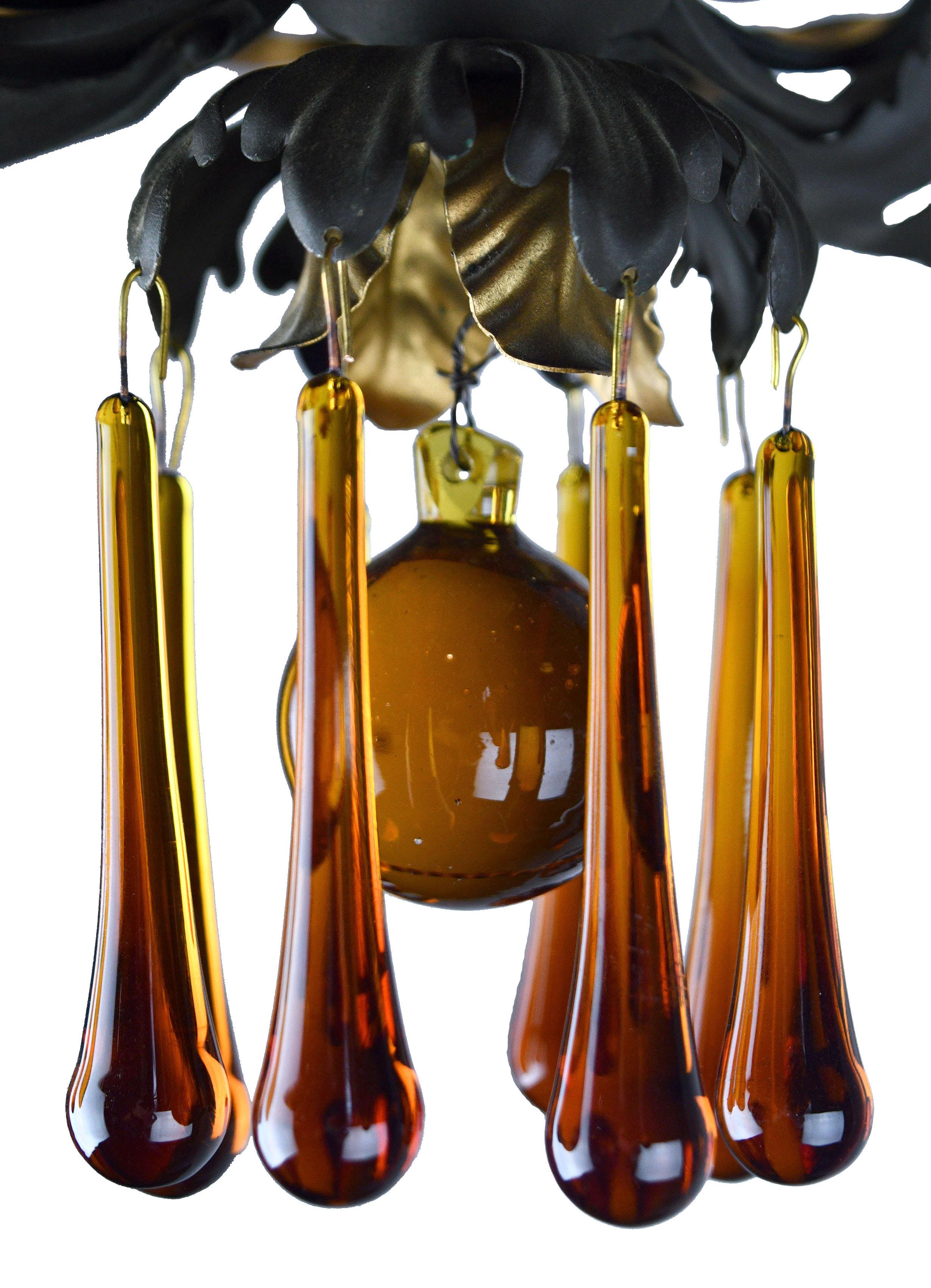48013 three light flushmount amber crystal drops.jpg