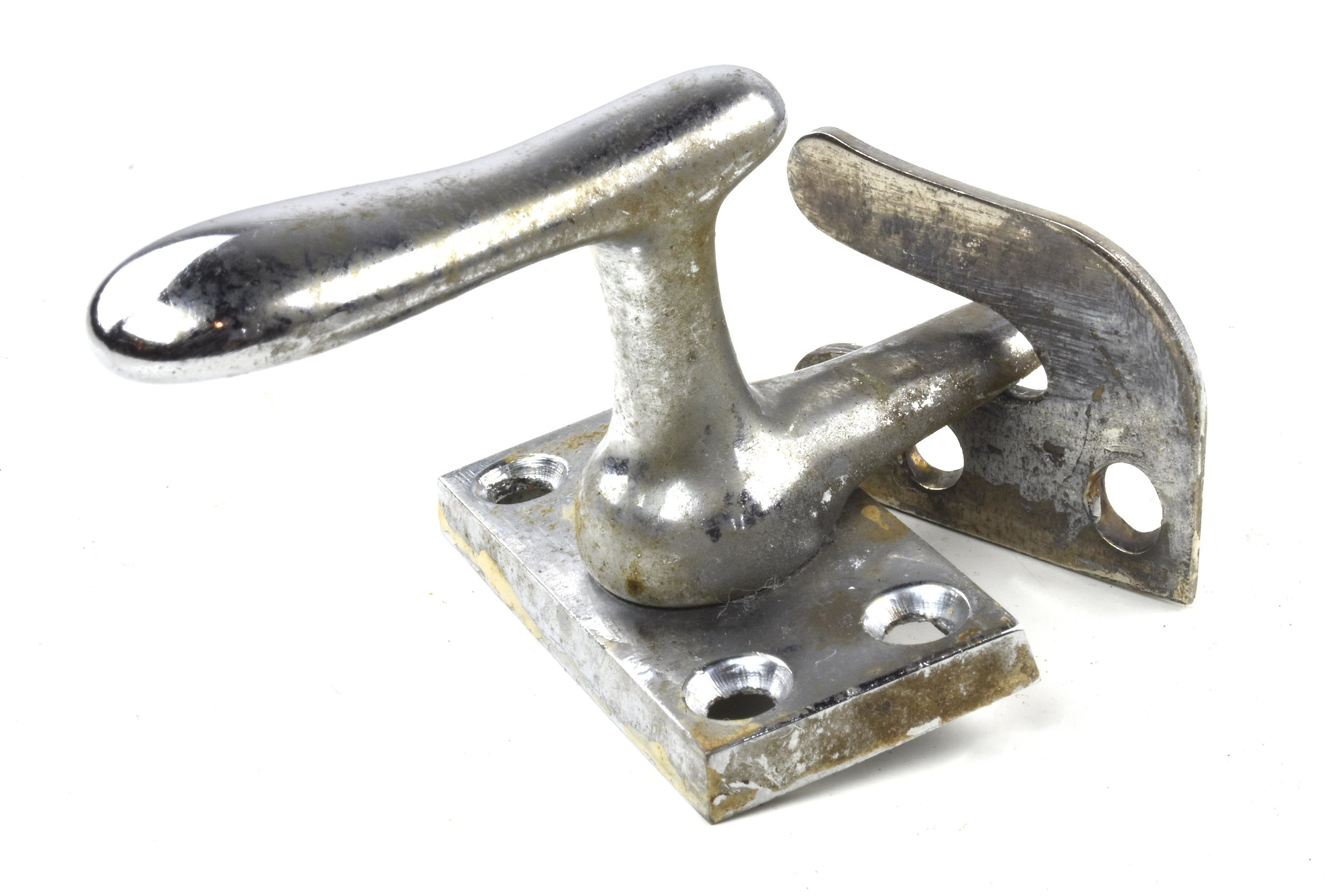 CASEMENT (FRENCH) WINDOW FASTENER  10 available $17.00 nickel finish with surface strike