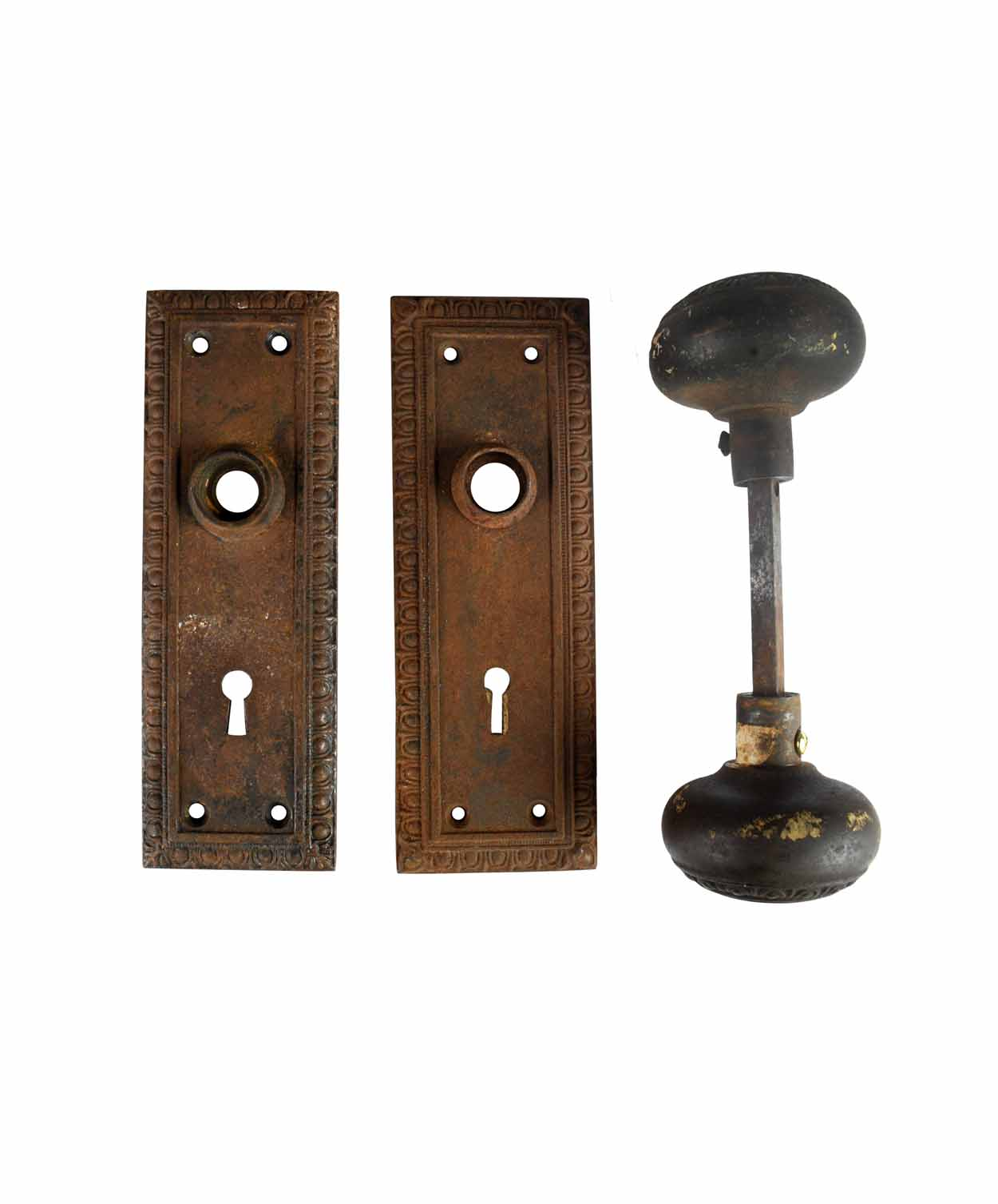 "EGG AND DART IRON KNOB SET ""SK161"" AA# H20198A   2 sets available $145.00 each set"