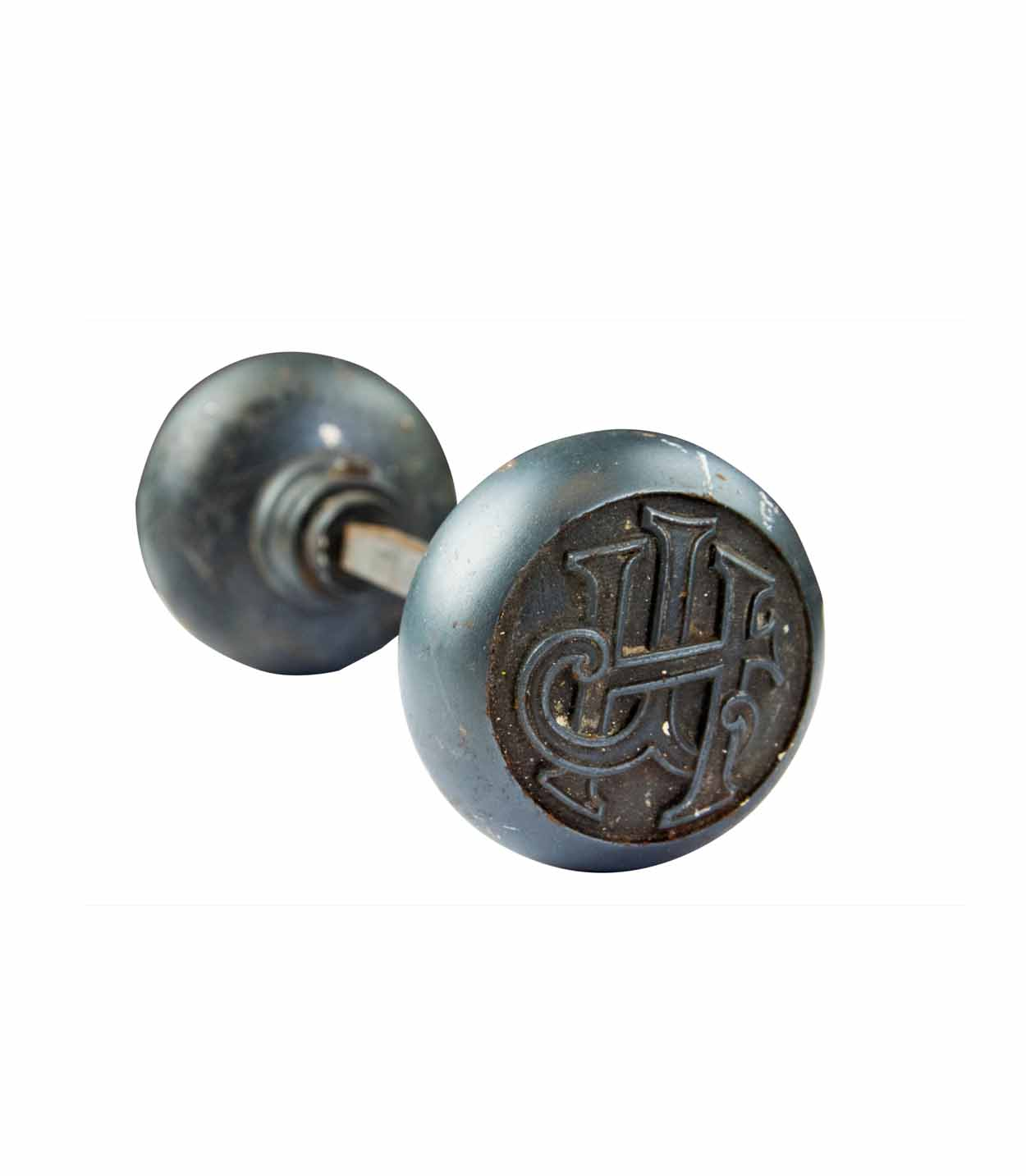 HOTEL JEFFERSON MONOGRAM IRON KNOB SET AA# H20184   9 sets available $165.00 each set