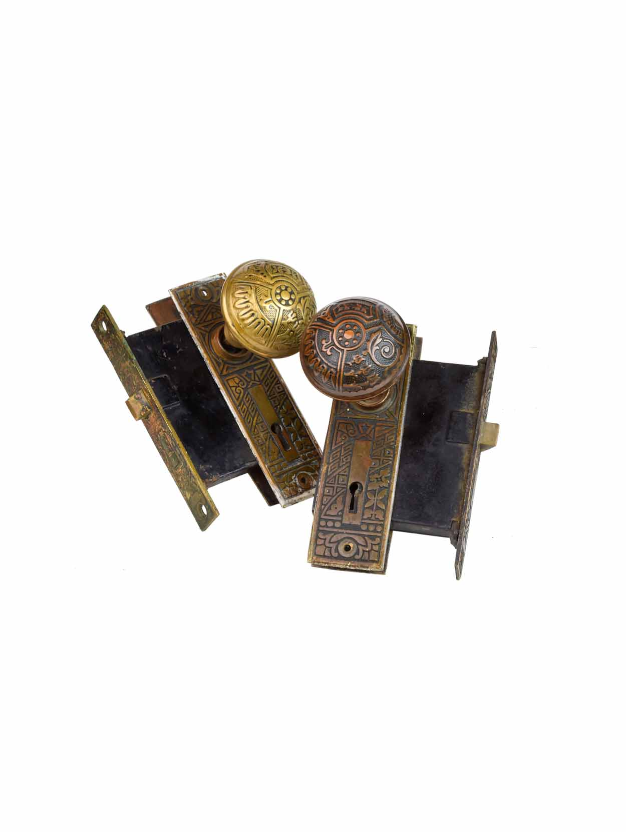 "CORBIN ""CEYLON"" CAST BRASS KNOB SETS AA# H20138   22 sets available $285.00 each set"