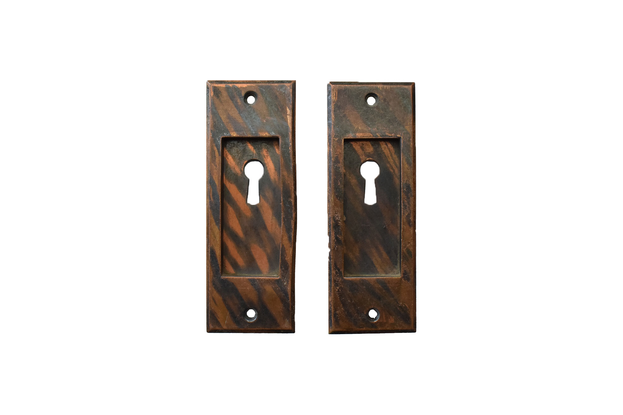 GILT AND SATIN POCKET DOOR PULLS WITH KEYHOLE AA# H20104   1 set available $75.00 for set