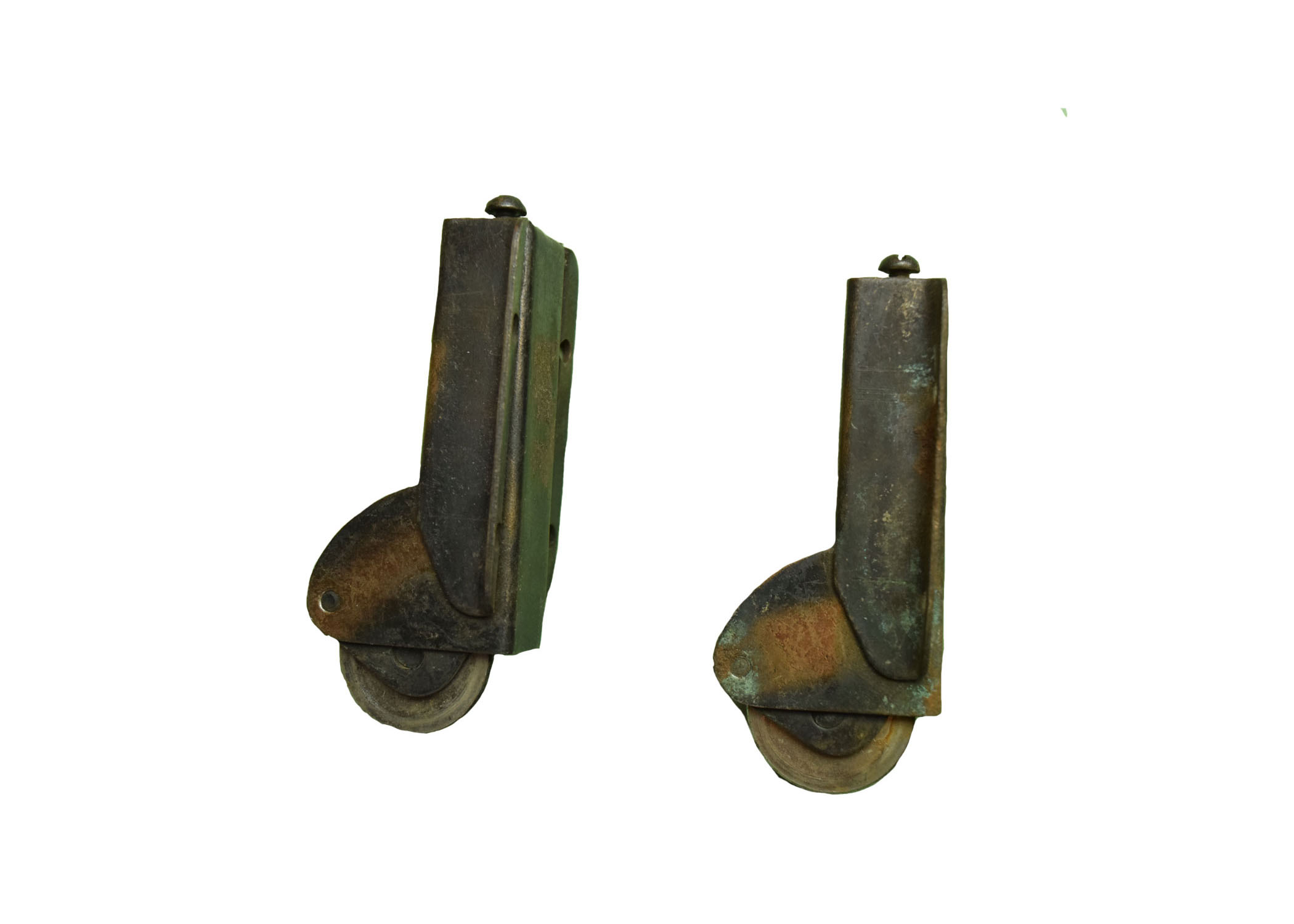 "GILT AND SATIN CASTERS"" AA# H200   7 available $72.00 each"