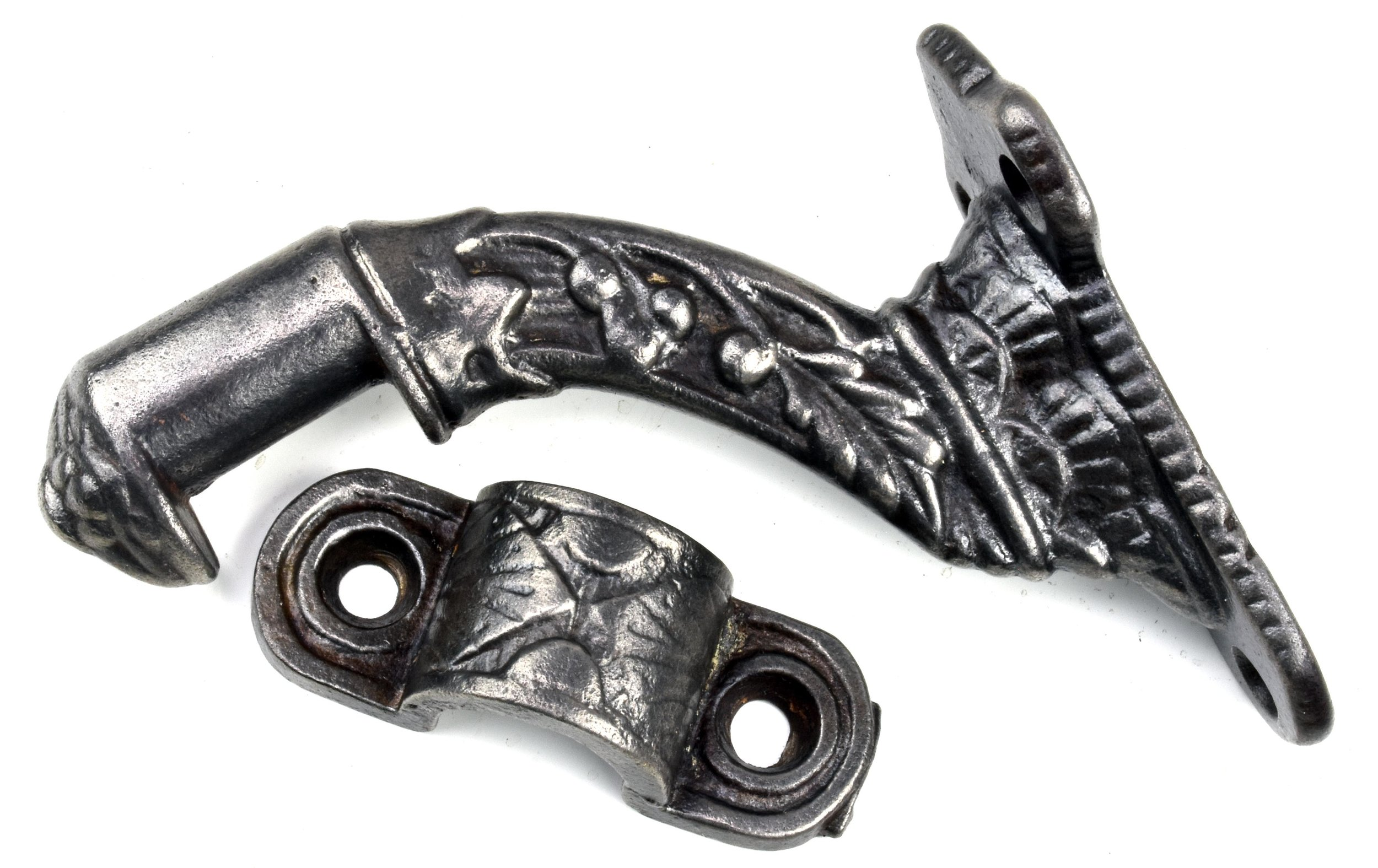 DECORATIVE CAST IRON HAND RAIL BRACKETS AA# 45164   SOLD!