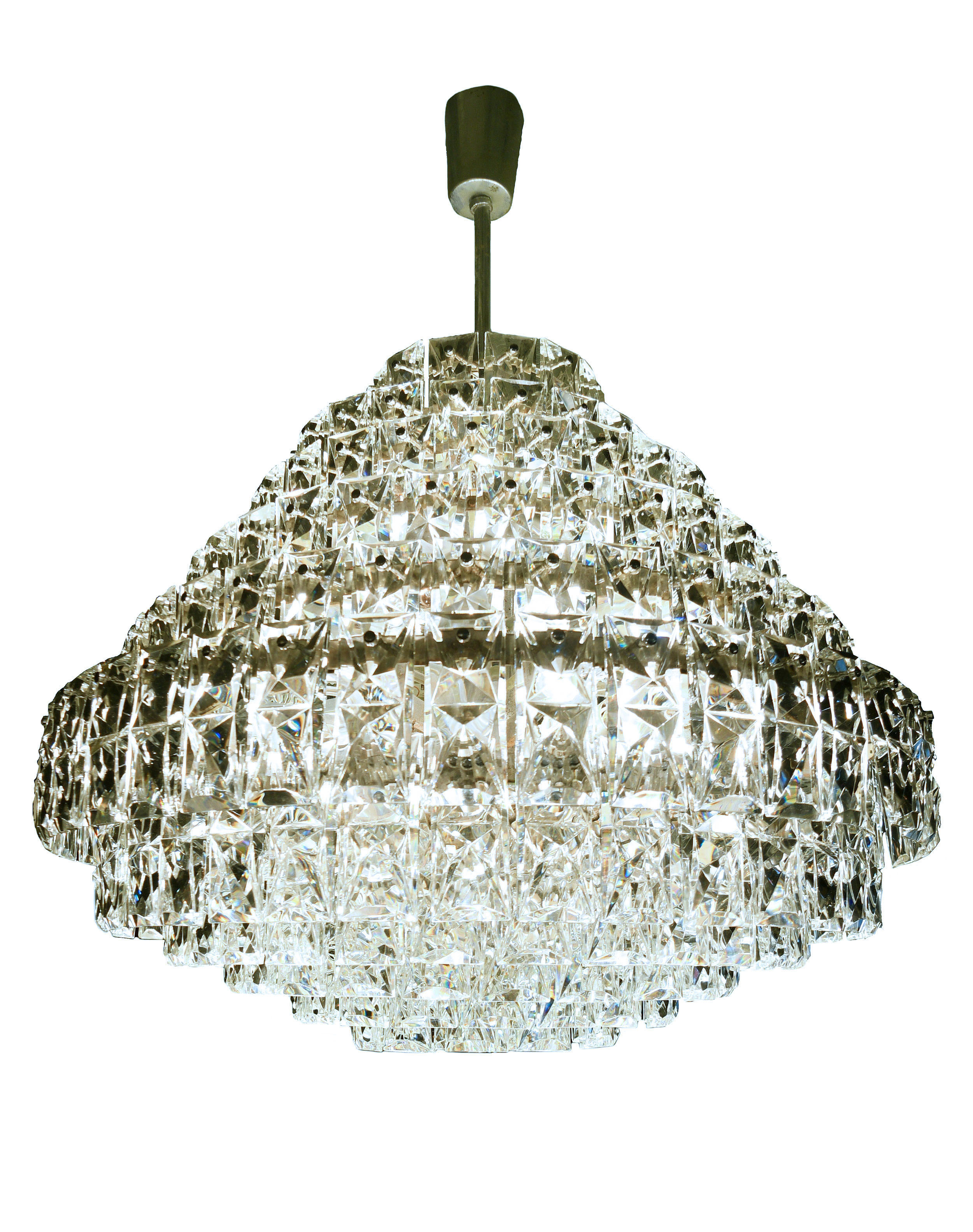 Large tiered crystal chandelier     Click here for more information