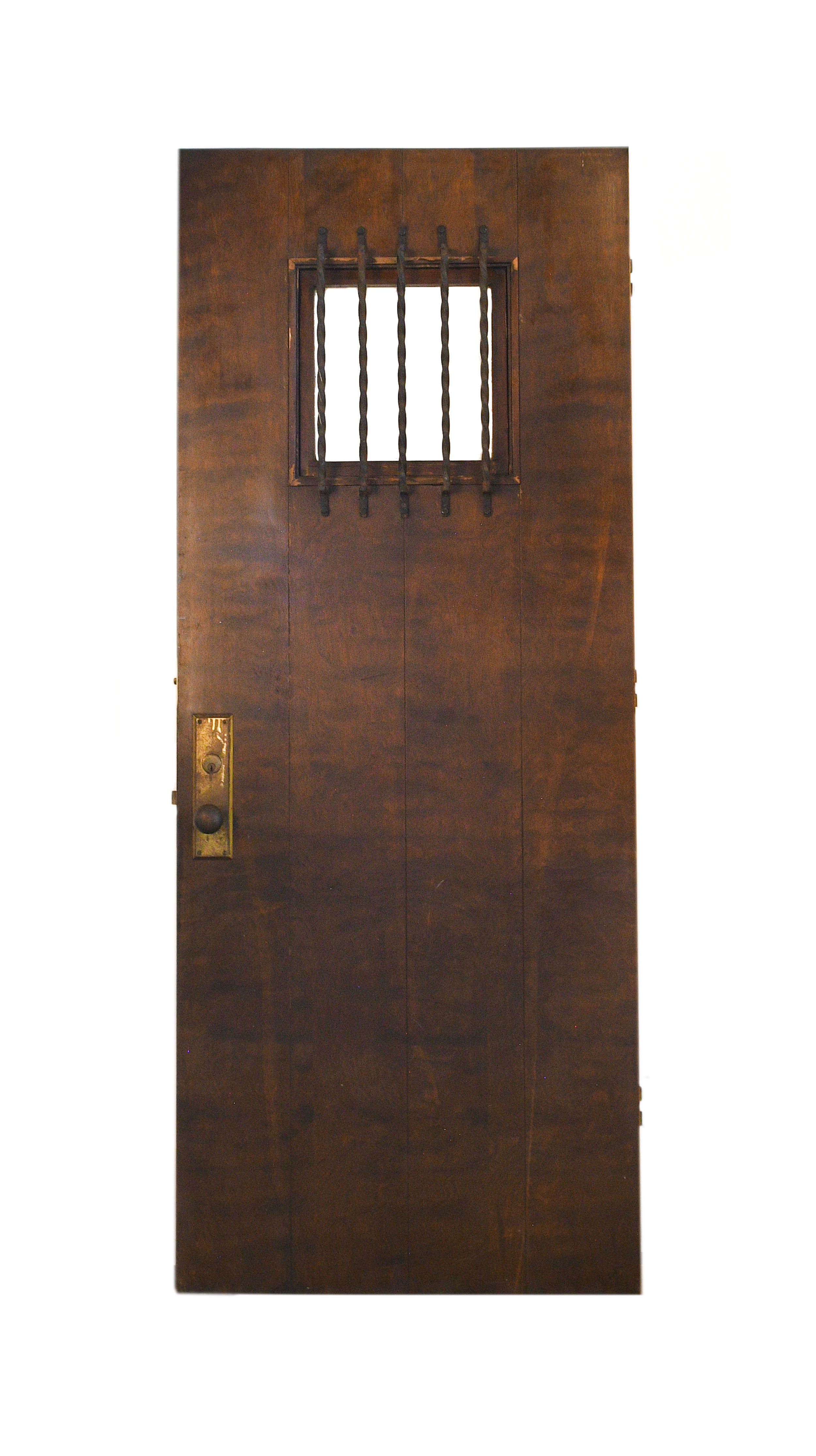 Iron Barred Door Architectural Antiques