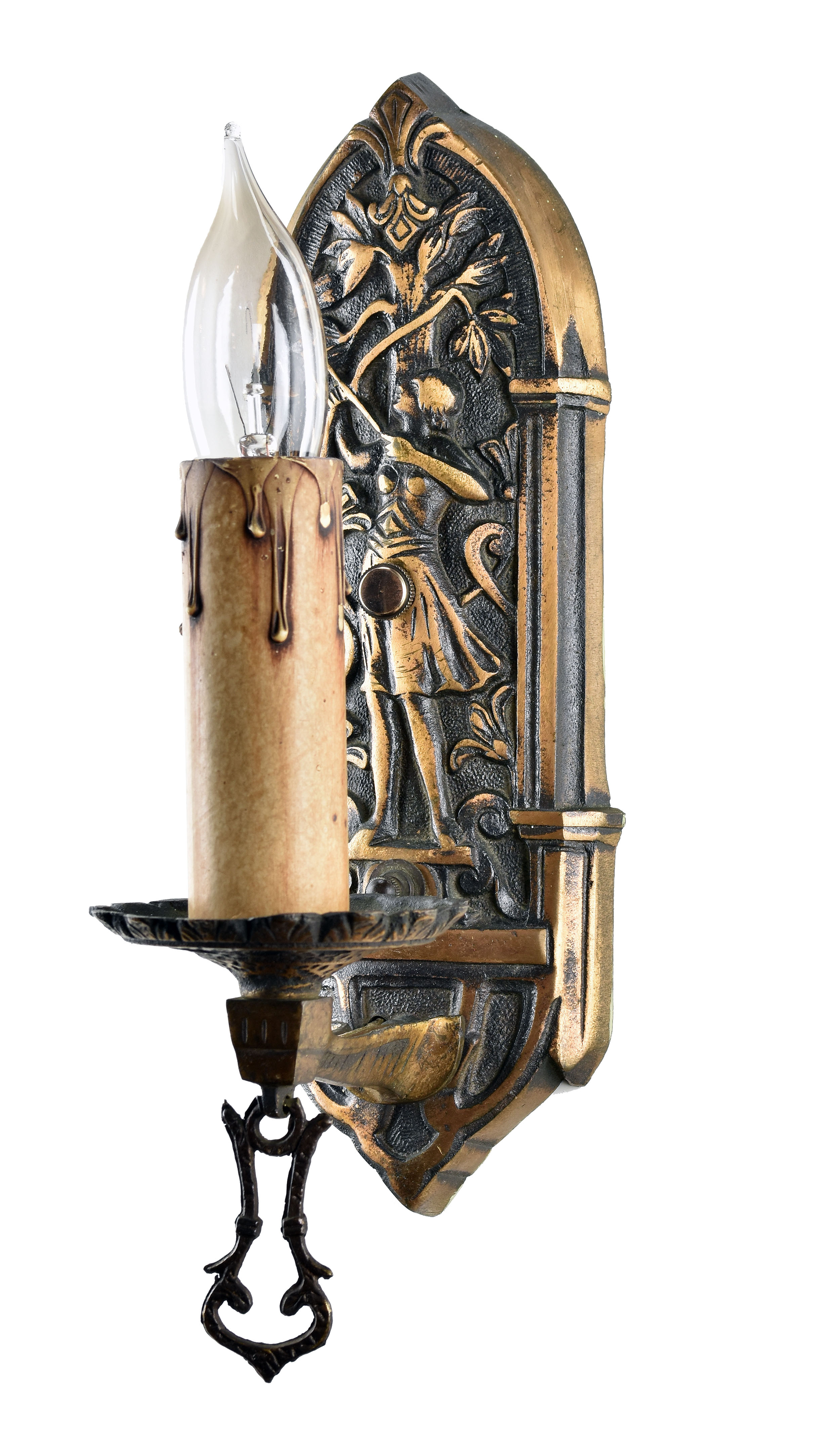 48426 single candle bronze archer sconce right.jpg