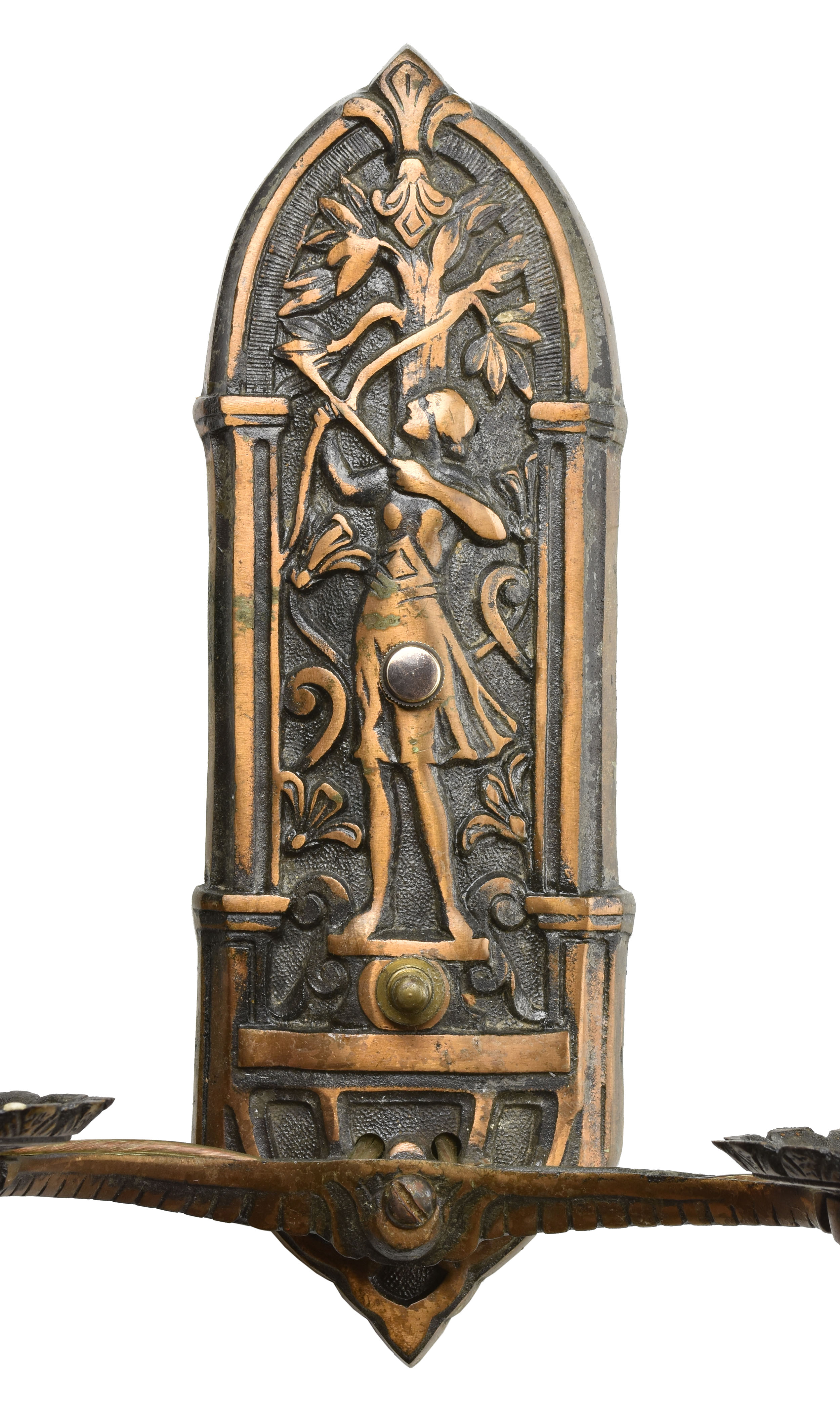 48425 double candle bronze archer sconce 2.jpg