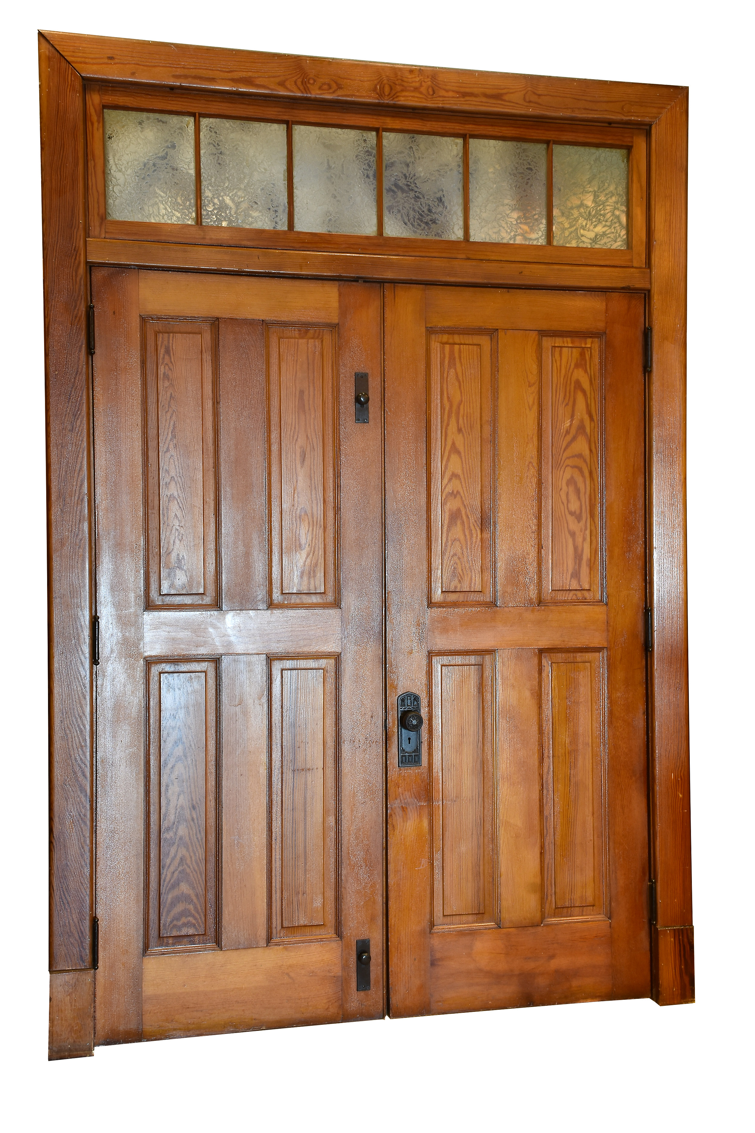 4 Panel Double Door Unit With Gl Transom Architectural Antiques