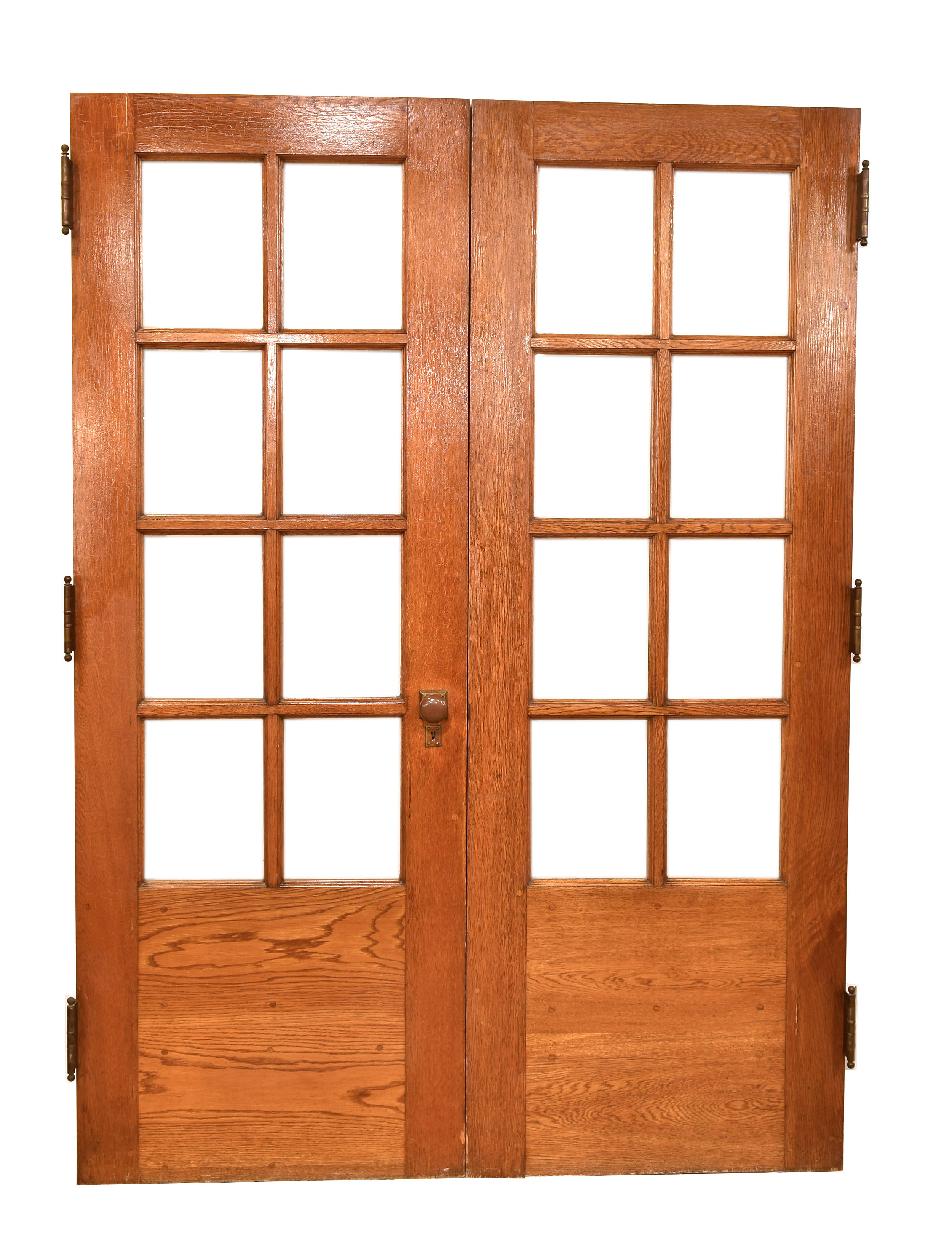 Oak 8 lite double door set