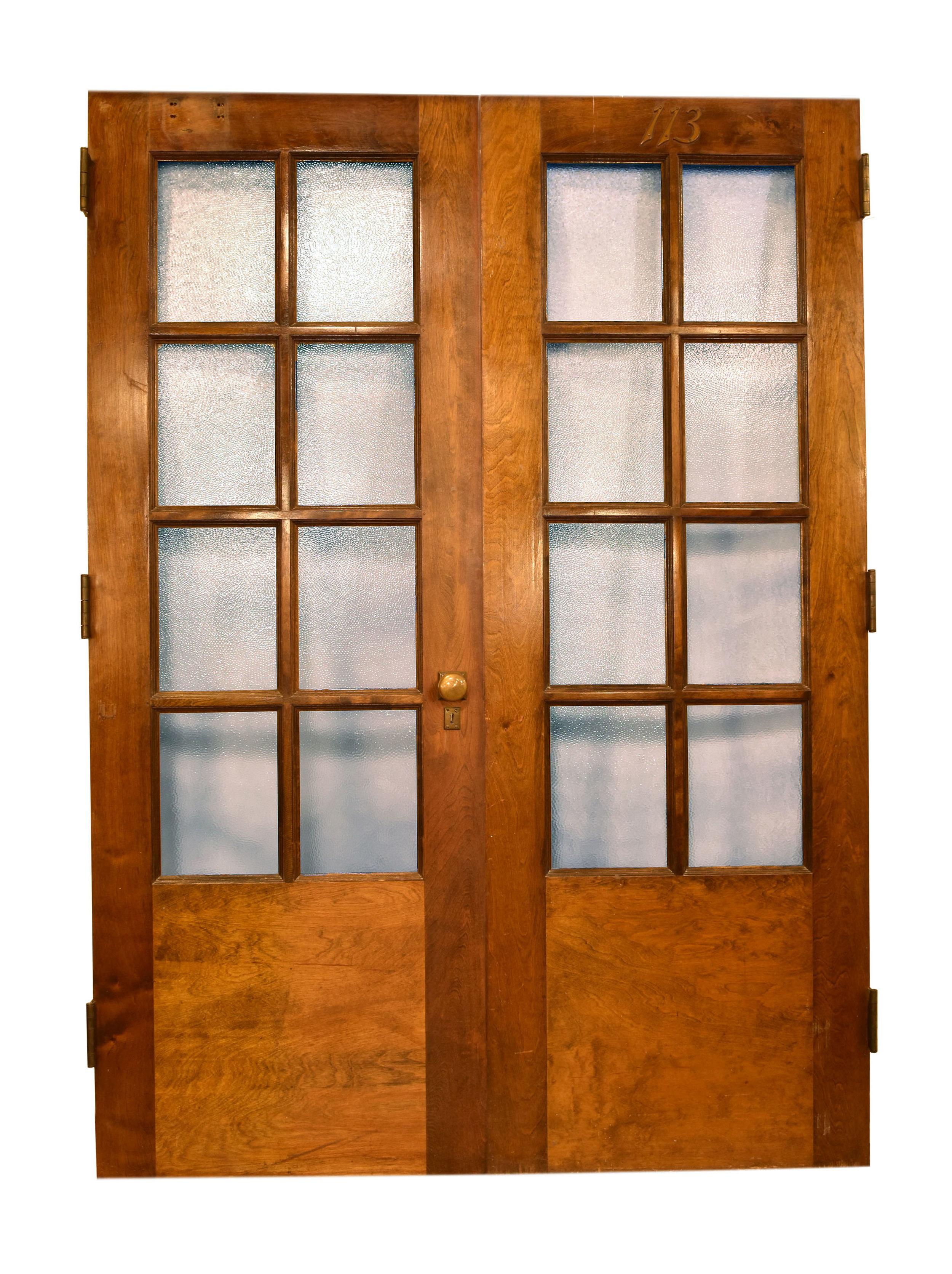 8 lite double door set with pebble glass