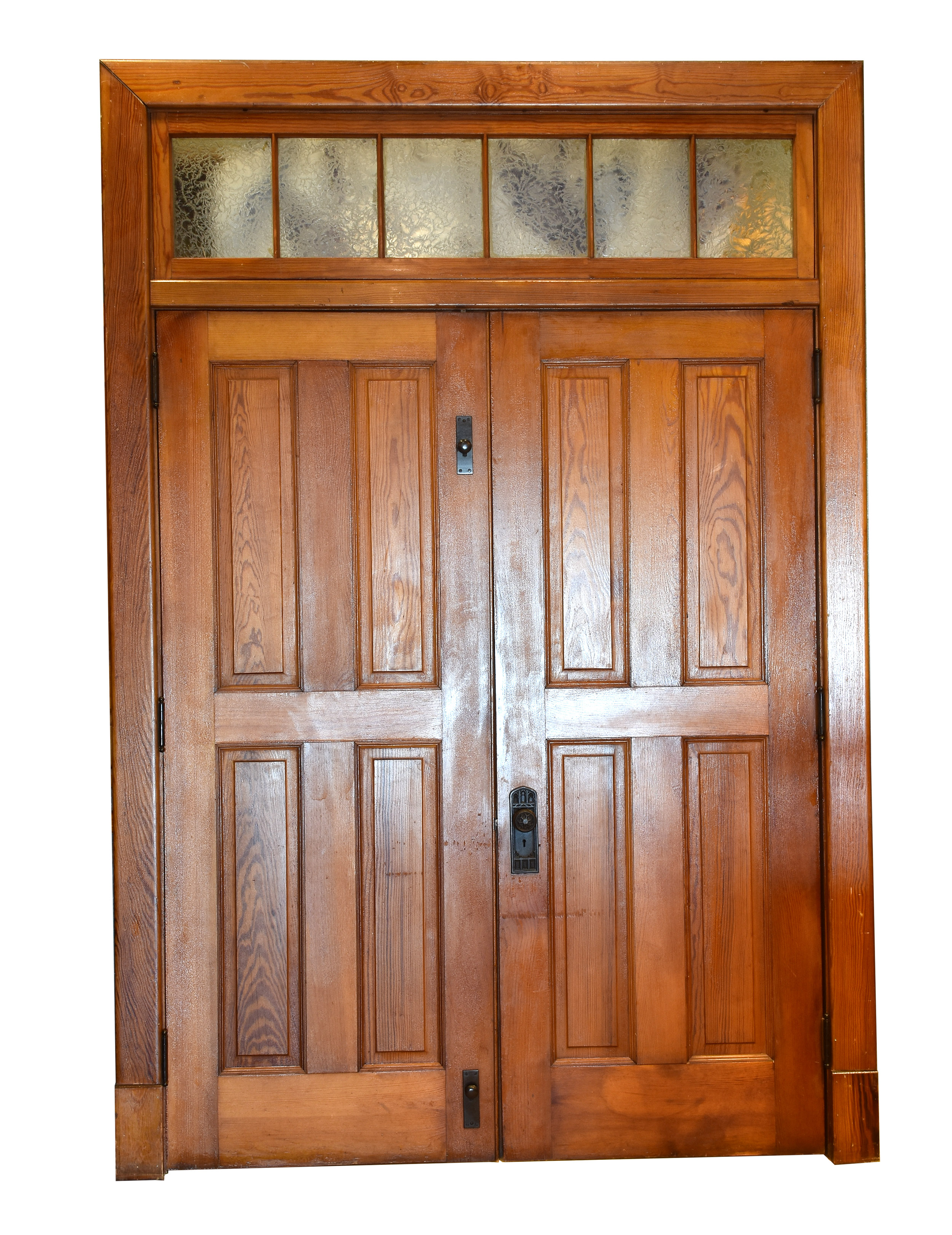 4 panel double door unit with glass transom