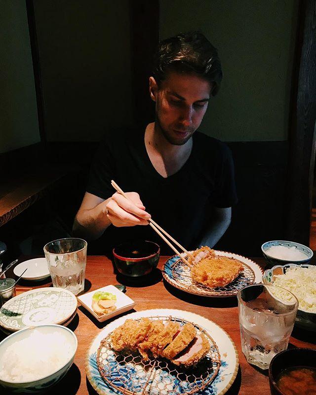 Life-changing tonkatsu in Tokyo. Thanks @cjaeckle ✨