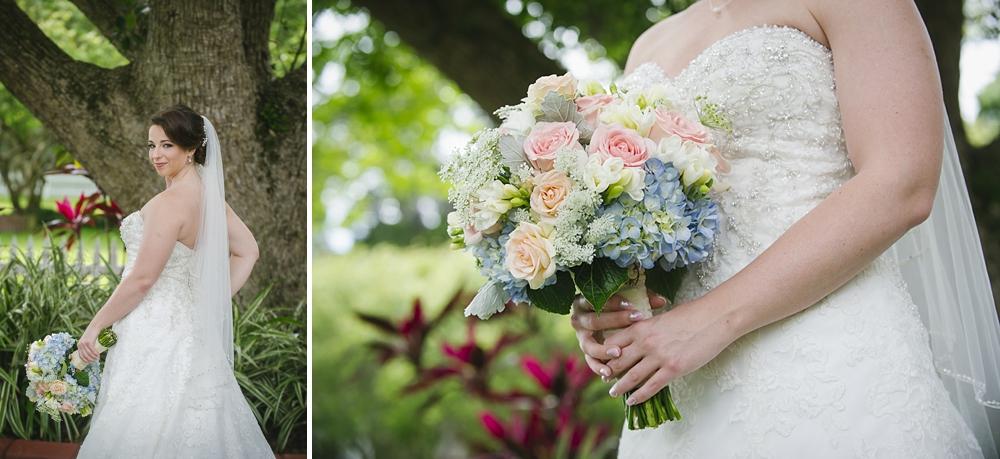 bridal portrait palmetto riverside B&B wedding photos