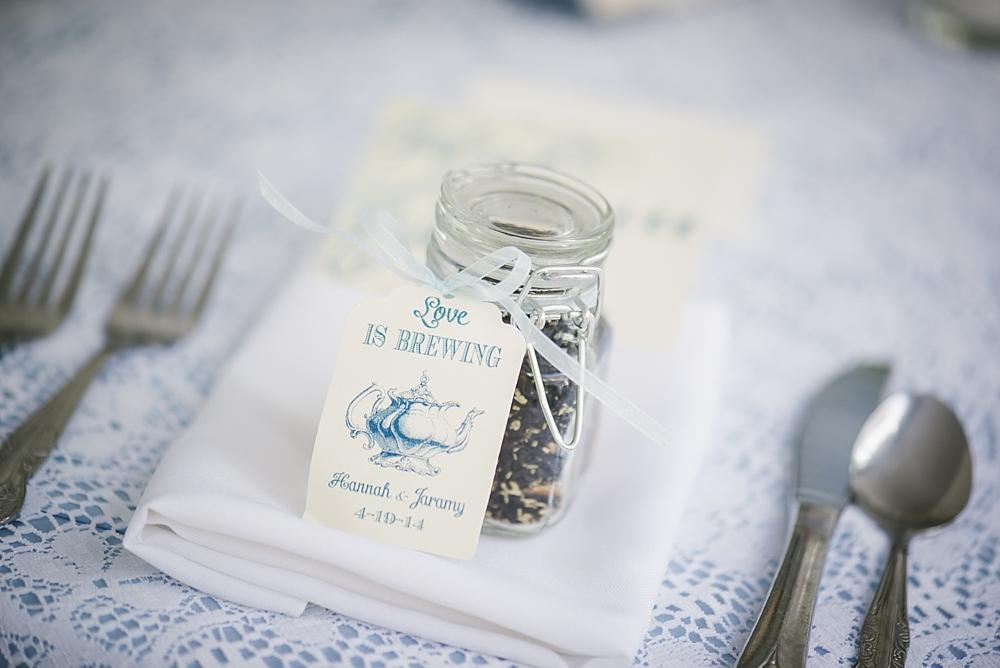 tea wedding favor palmetto riverside B&B wedding photos