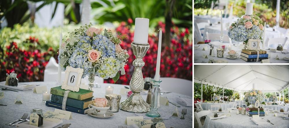 vintage book reception palmetto riverside B&B wedding photos