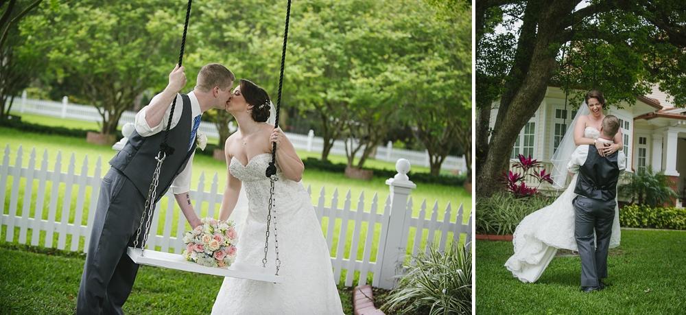 swing photos palmetto riverside B&B wedding photos